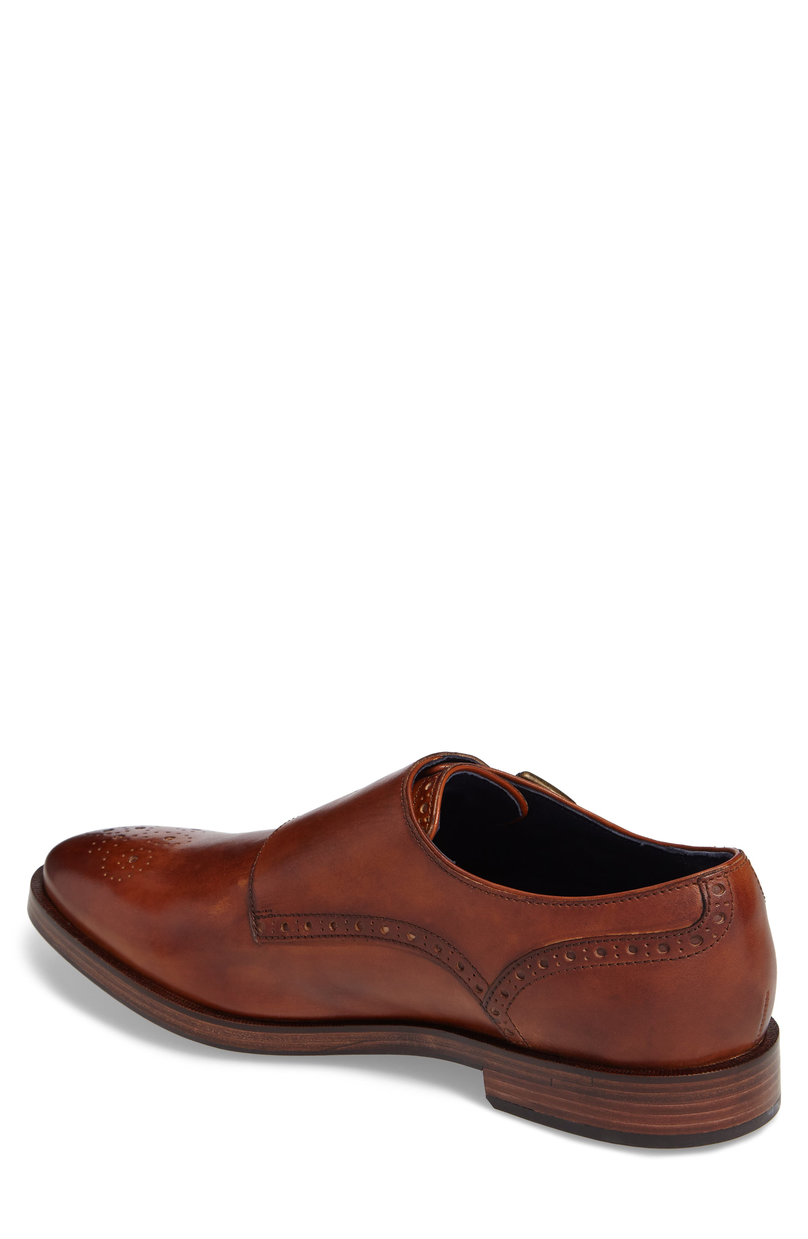 Hamilton Double Monk Strap Shoe,                             Alternate thumbnail 2, color,                             BRITISH TAN LEATHER