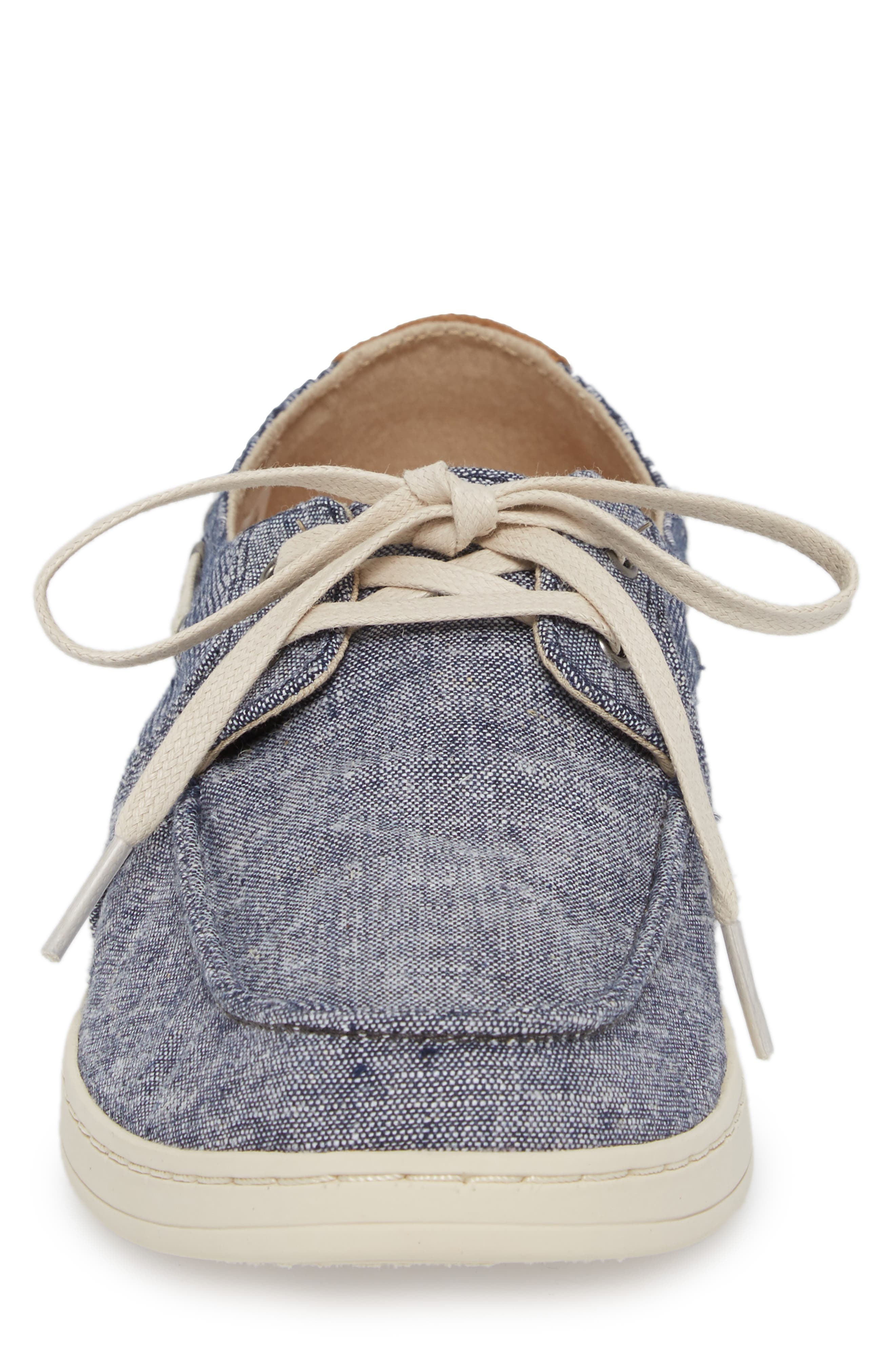 'Culver' Boat Shoe,                             Alternate thumbnail 4, color,                             CANVAS EMBROIDERED WHALE