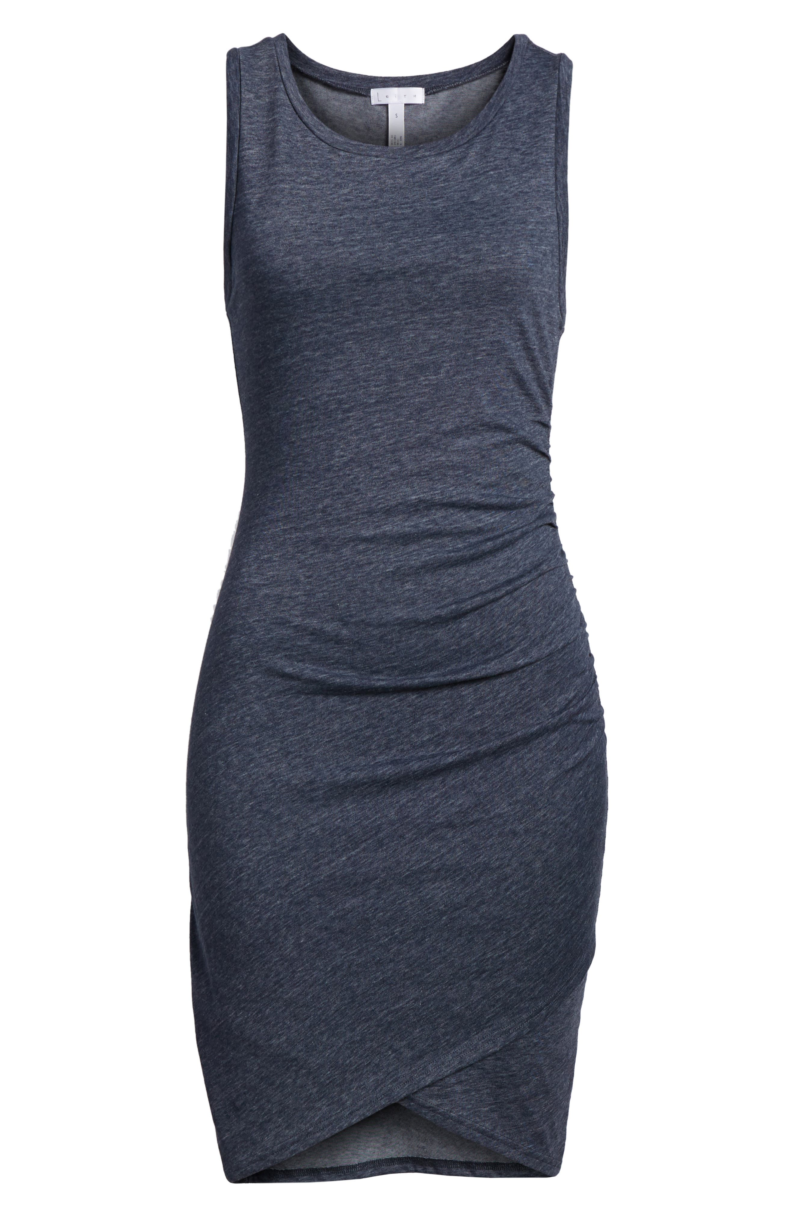 Ruched Body-Con Tank Dress,                             Alternate thumbnail 197, color,
