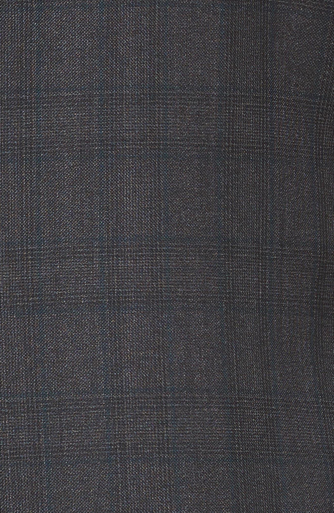 Classic Fit Plaid Wool Suit,                             Alternate thumbnail 7, color,                             026