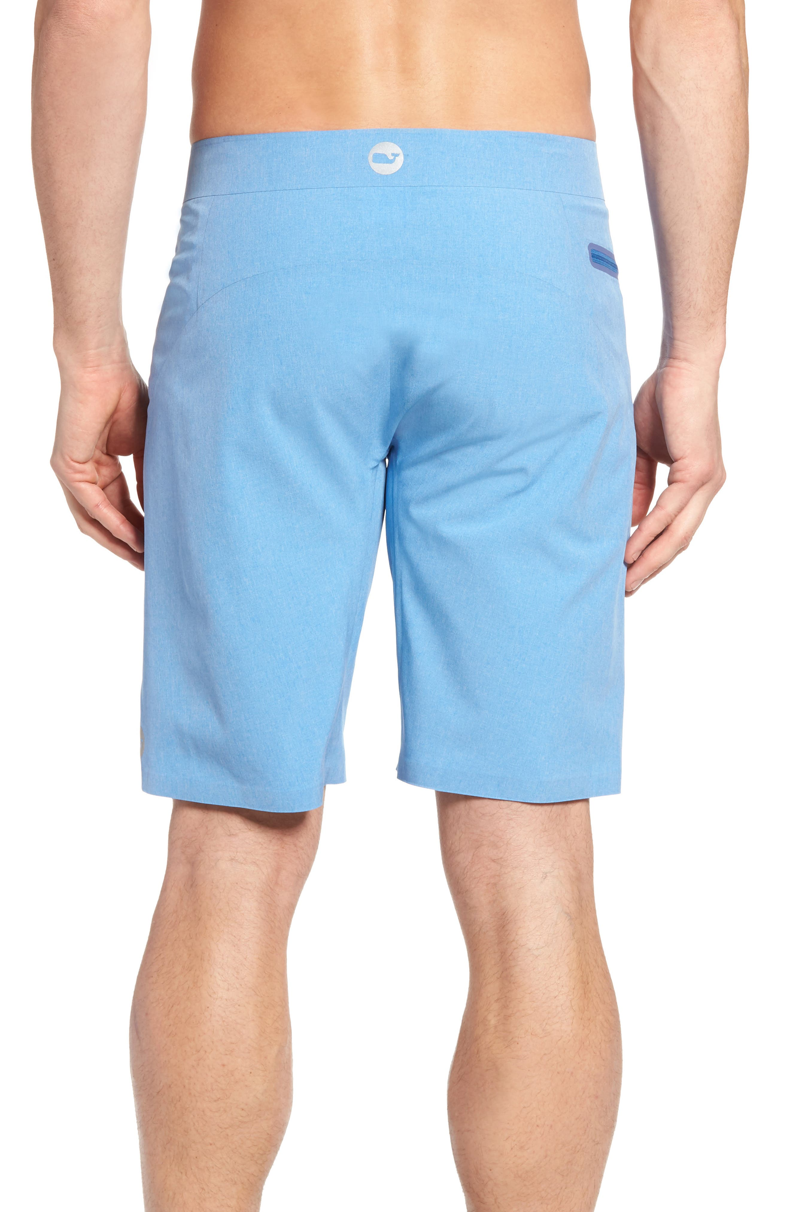 Heather Stretch Board Shorts,                             Alternate thumbnail 7, color,