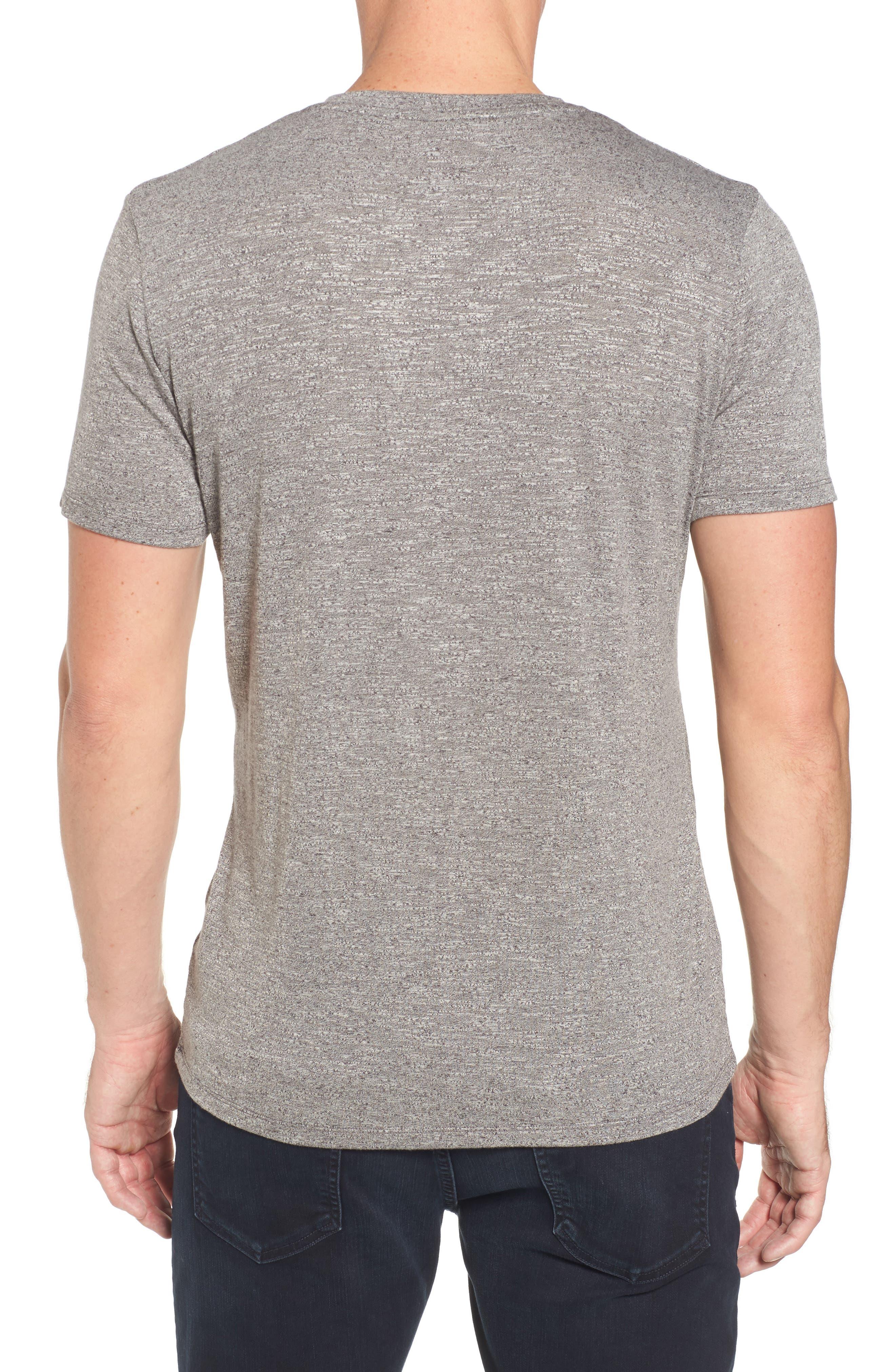 Flame Slubbed V-Neck T-Shirt,                             Alternate thumbnail 2, color,                             020