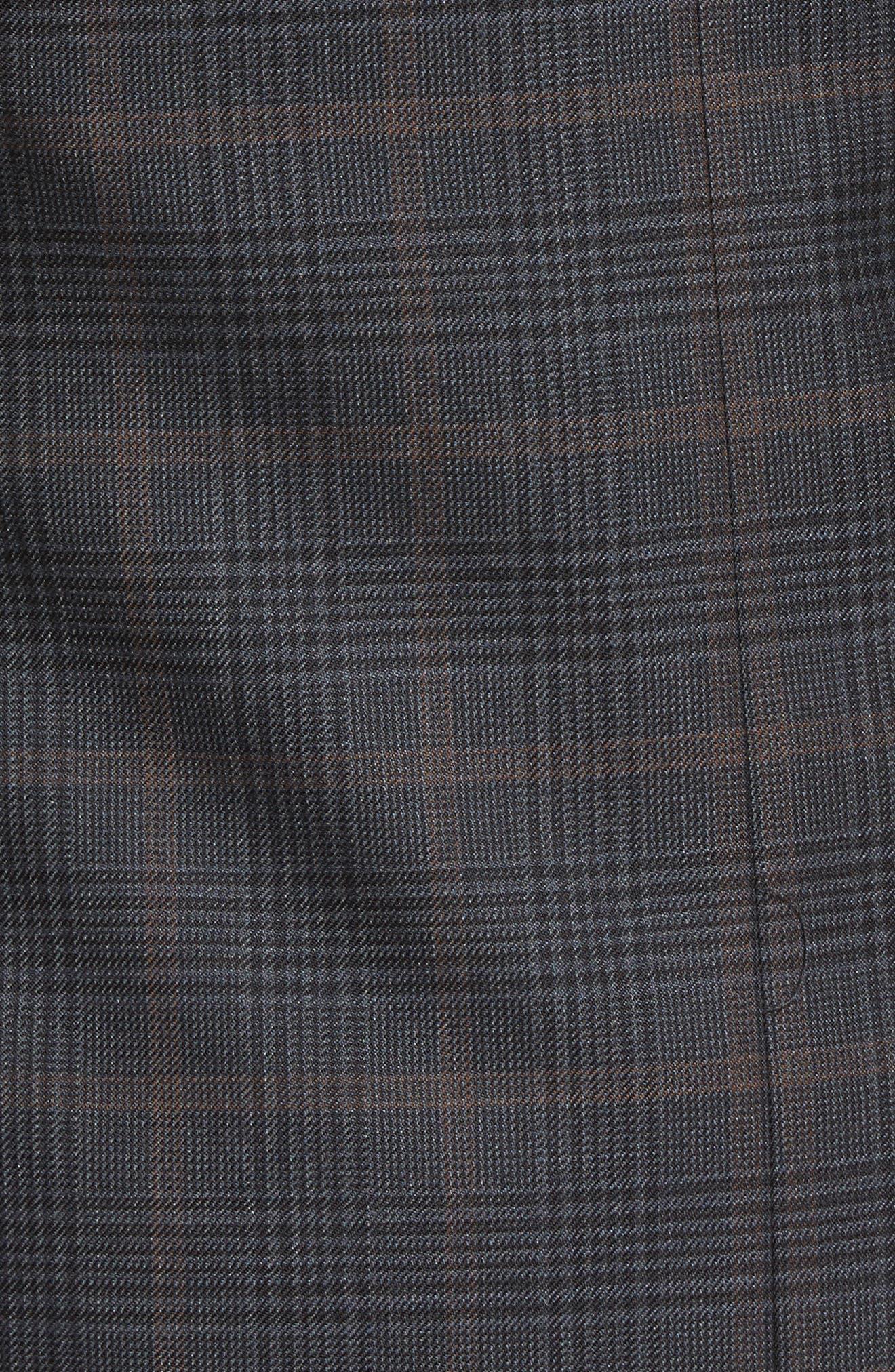 Classic Fit Plaid Wool Sport Coat,                             Alternate thumbnail 5, color,                             021