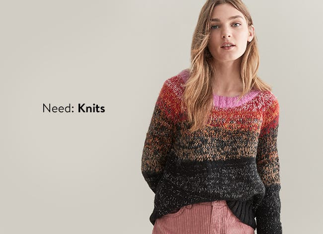 Need: knits. Women's sweaters