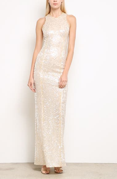 Sequin Racerback Gown, video thumbnail