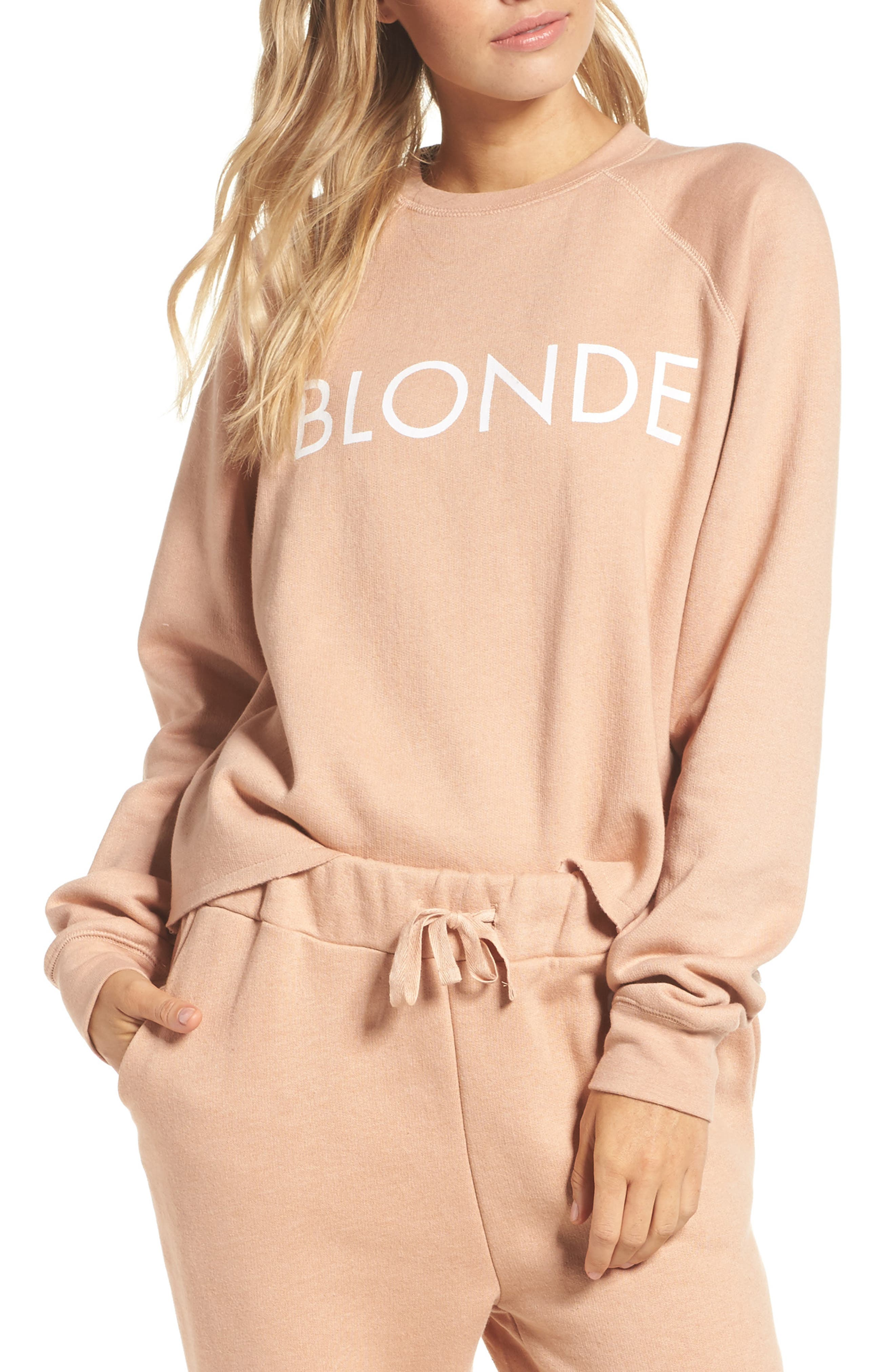 Middle Sister Blonde Sweatshirt,                         Main,                         color, 250