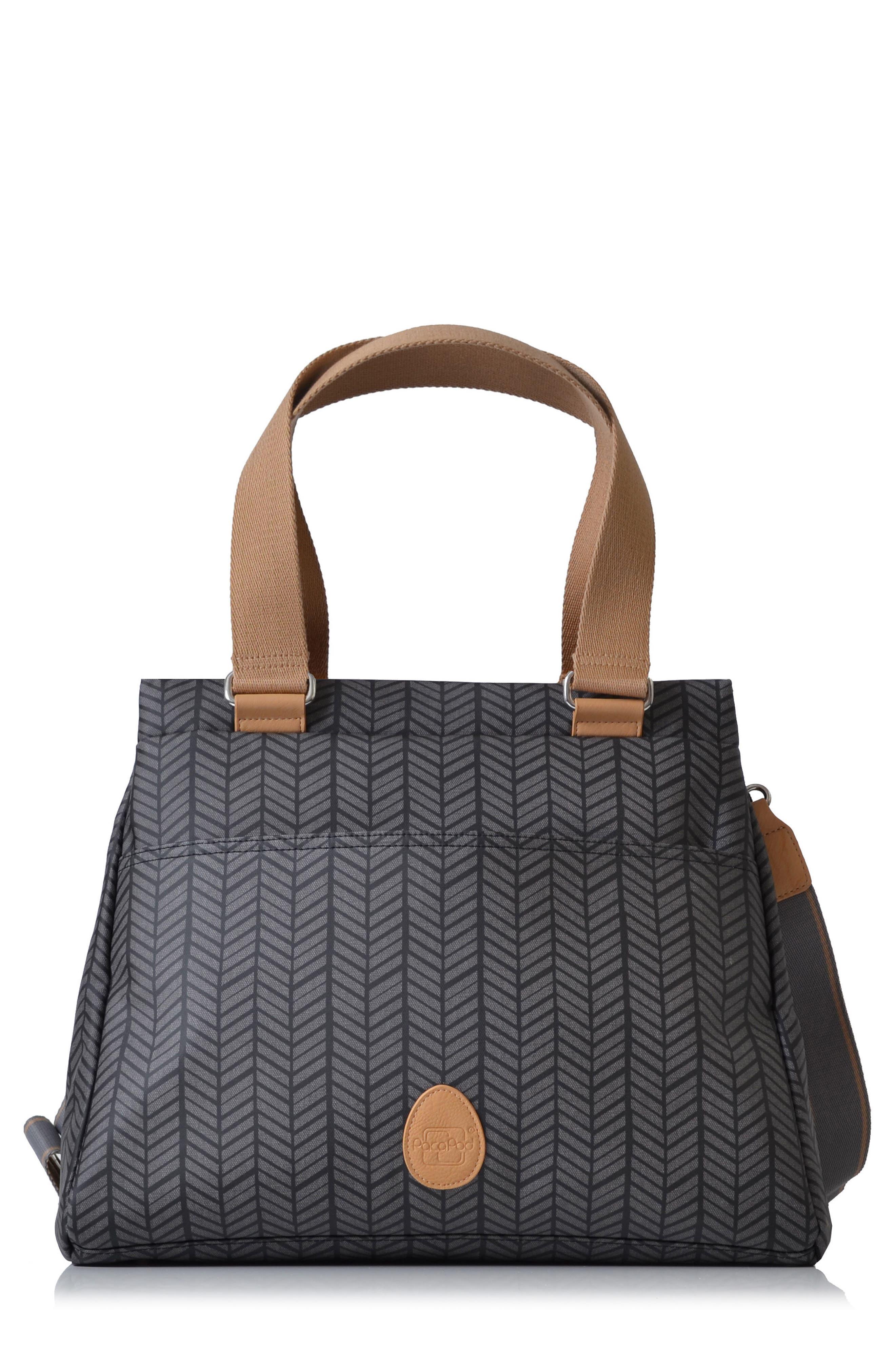 'Richmond' Diaper Bag,                         Main,                         color, CHARCOAL HERRINGBONE