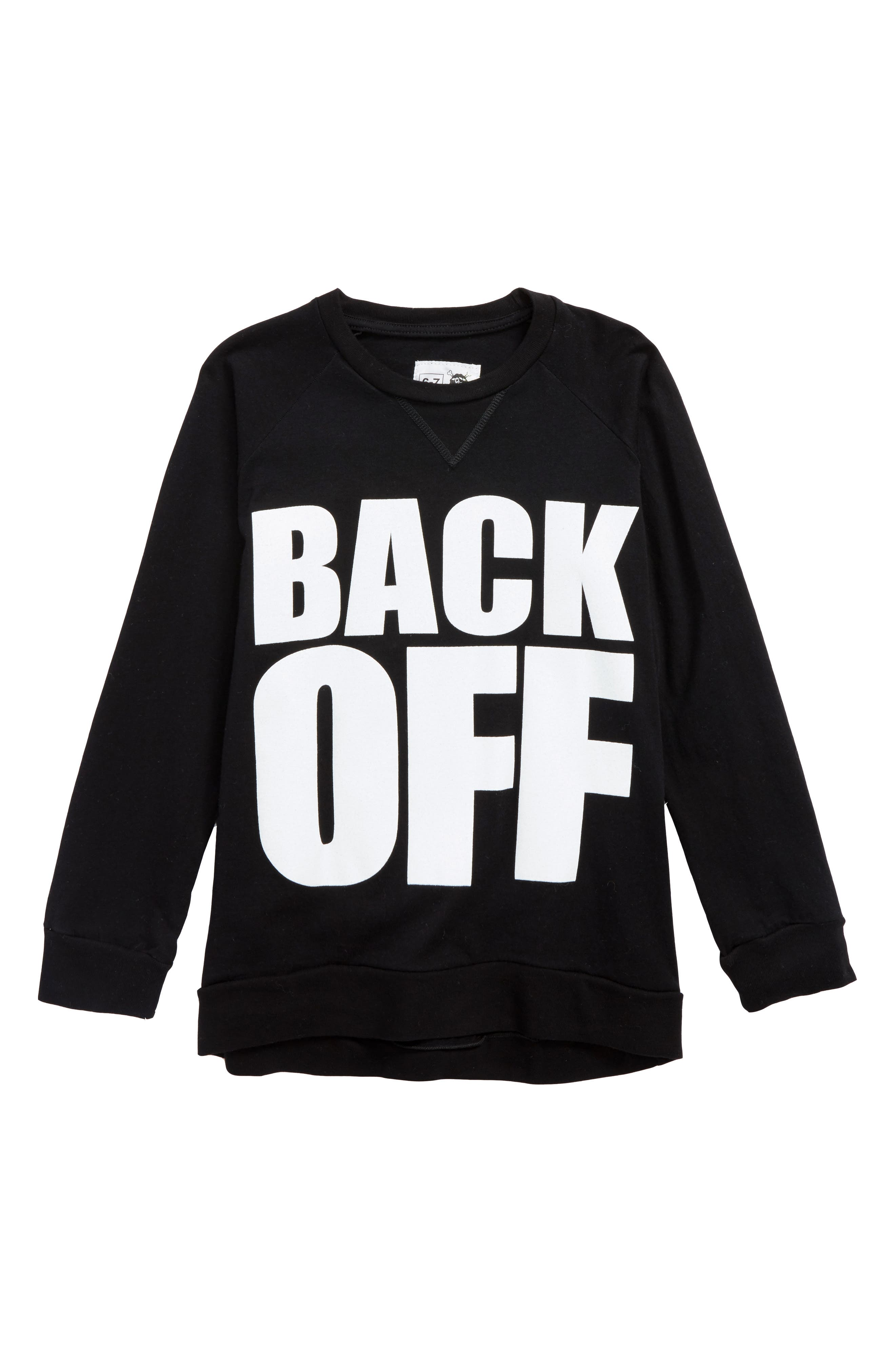 Back Off Graphic T-Shirt,                             Main thumbnail 1, color,                             001