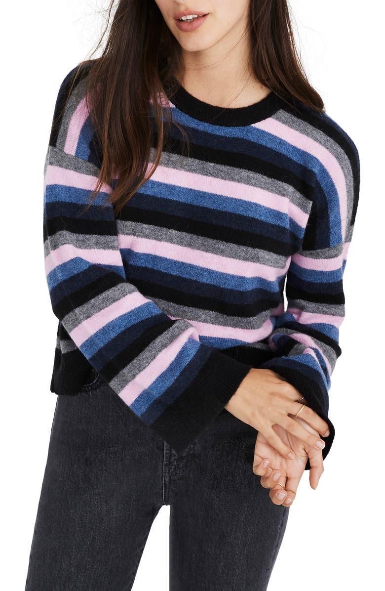 Madewell Cardiff Stripe Crewneck Sweater (Regular   Plus Size ... e32663191