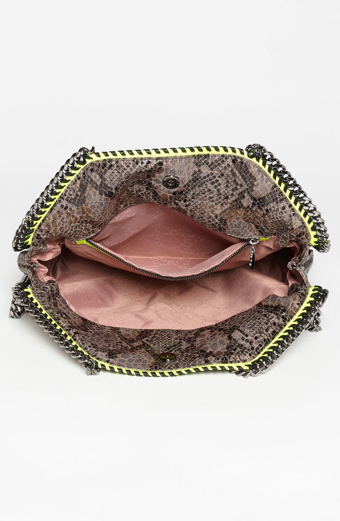 'Falabella' Faux Python Handbag,                             Alternate thumbnail 3, color,                             020