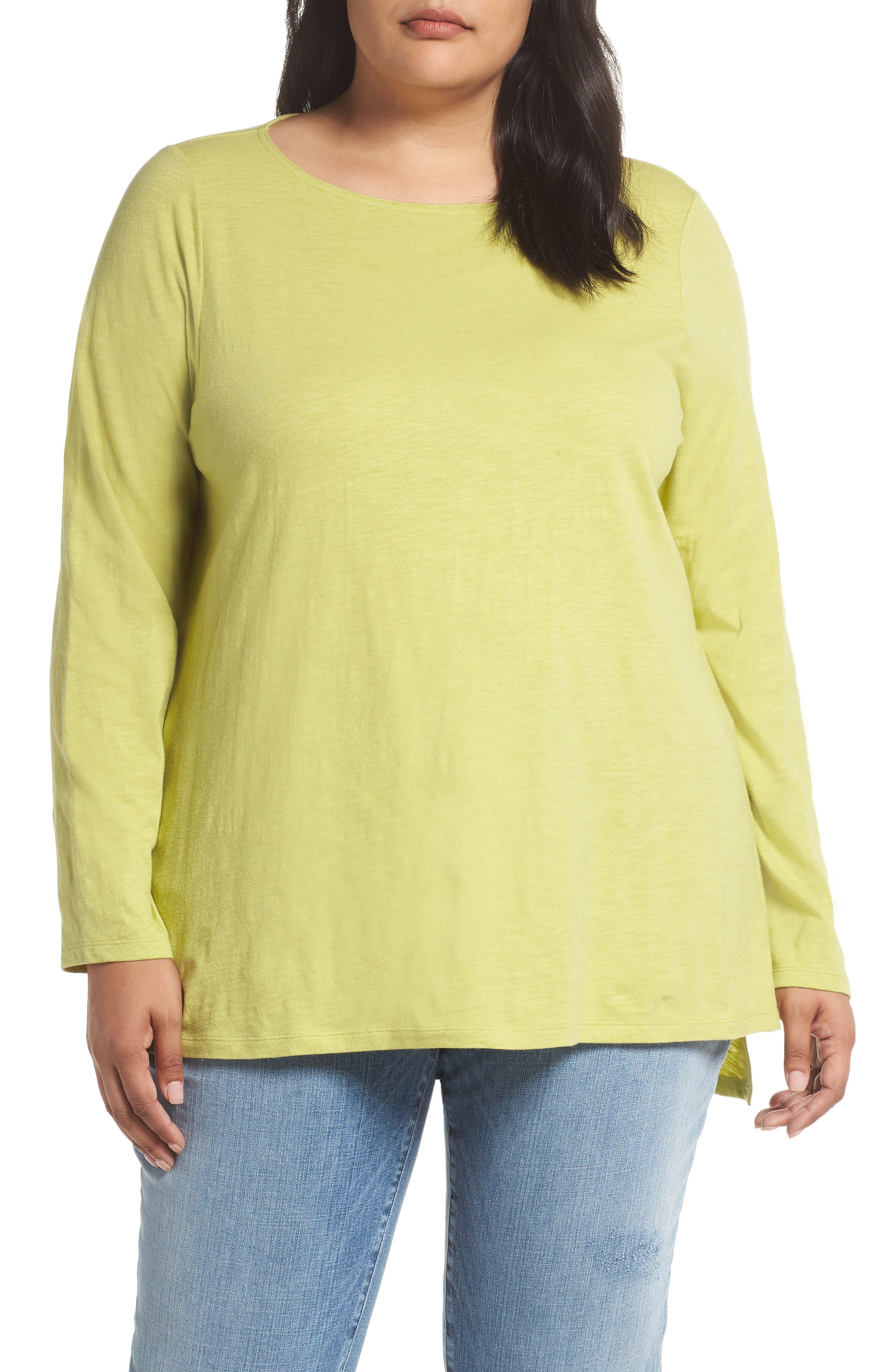 Organic Cotton Jersey Top,                         Main,                         color, VERBENA