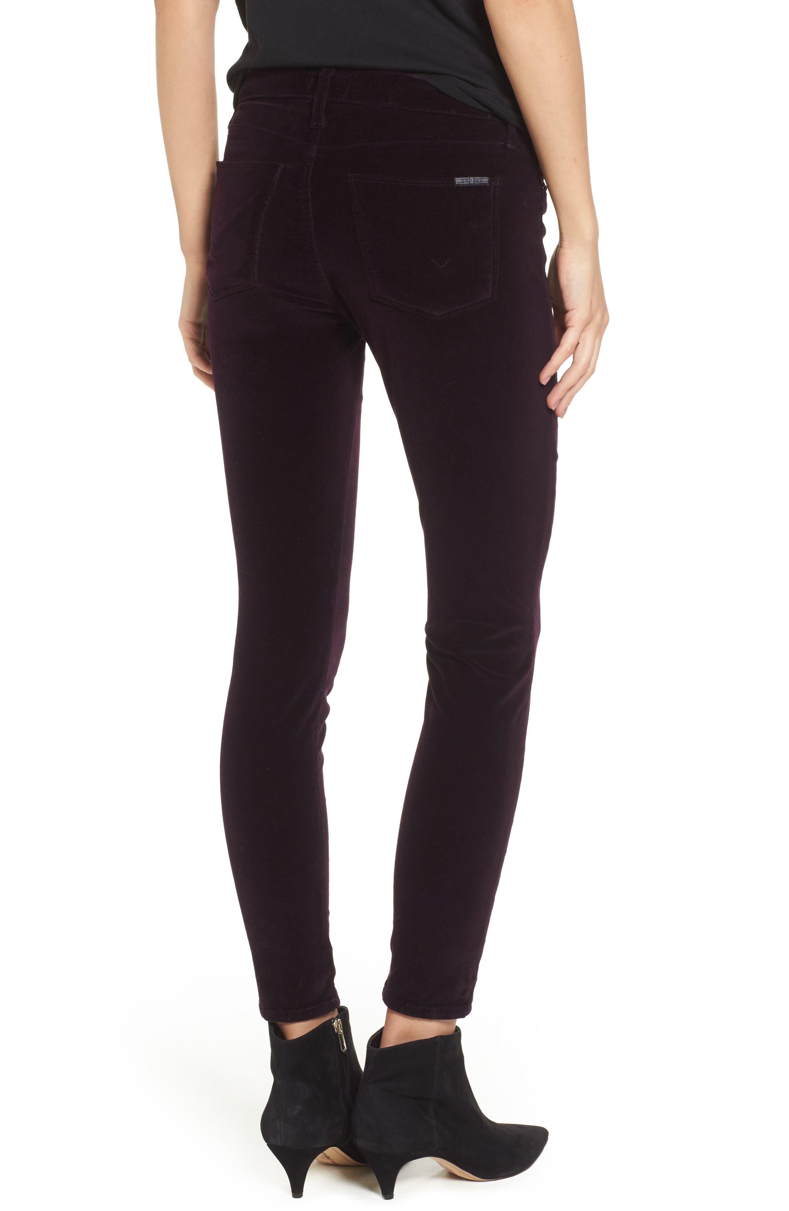 Nico Ankle Skinny Velvet Pants,                             Alternate thumbnail 2, color,                             500