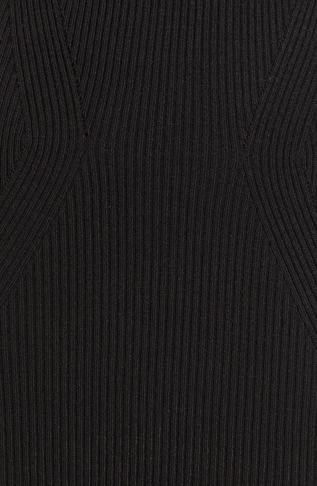 COTTON EMPORIUM,                             Off the Shoulder Knit Body-Con Dress,                             Alternate thumbnail 2, color,                             001