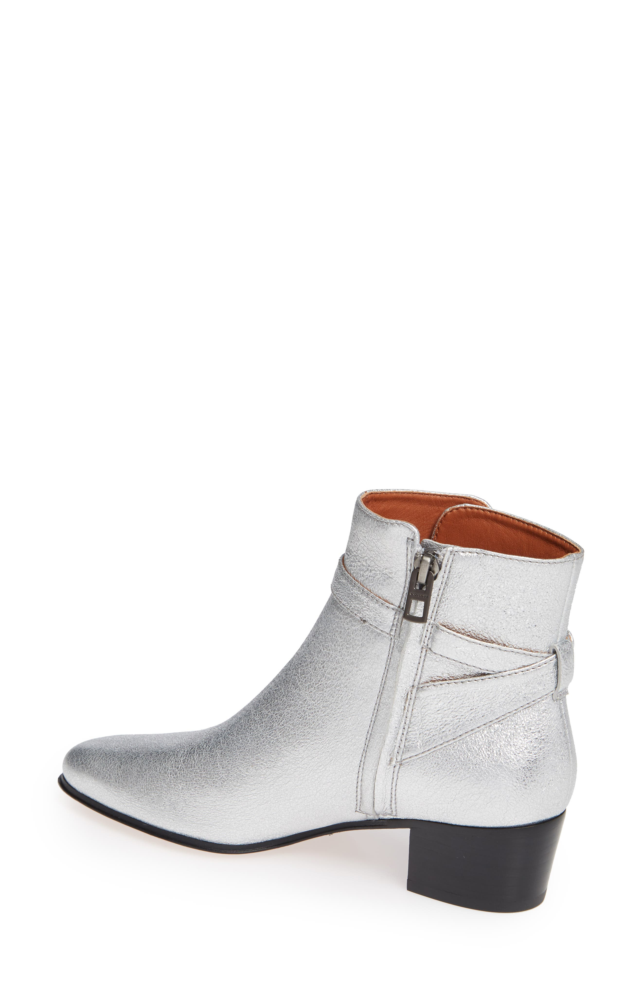 Chrystie Bootie,                             Alternate thumbnail 2, color,                             SILVER LEATHER