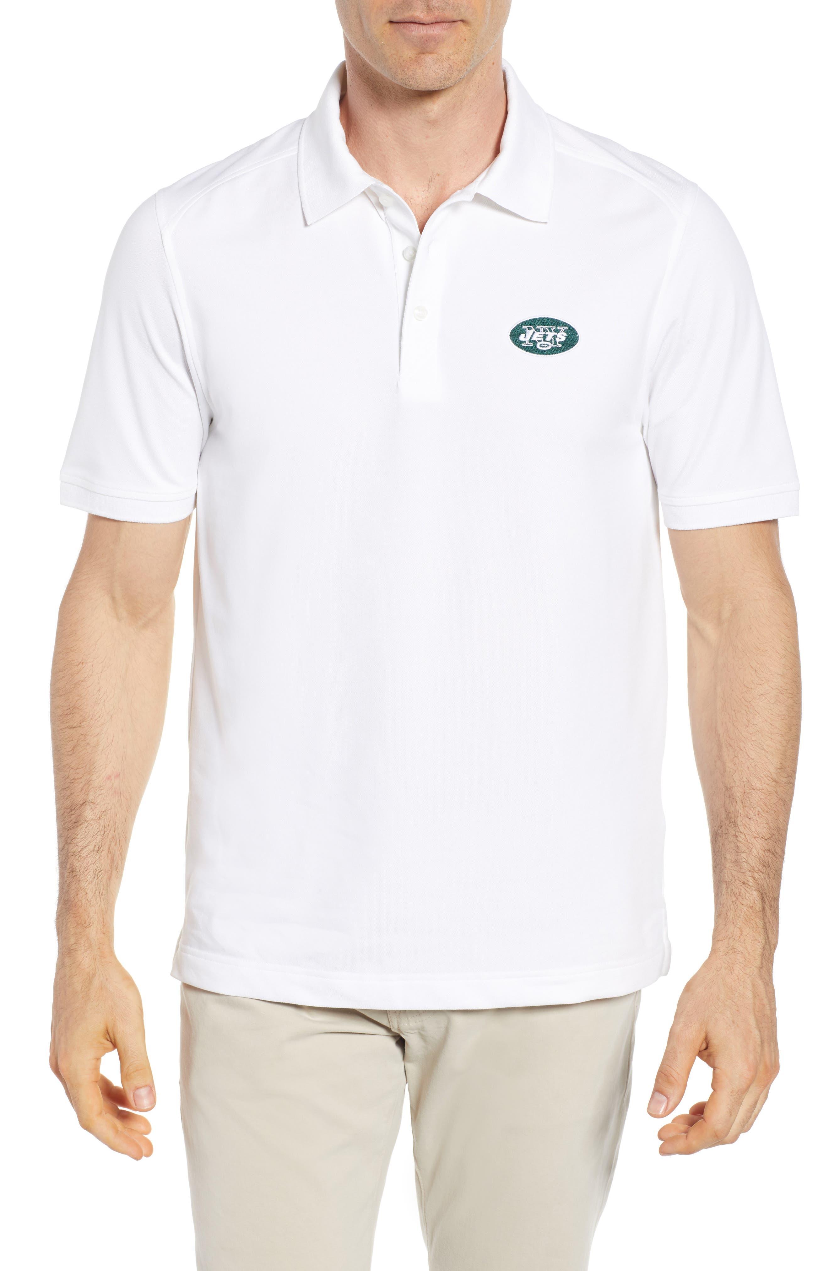 CUTTER & BUCK,                             New York Jets - Advantage Regular Fit DryTec Polo,                             Main thumbnail 1, color,                             100