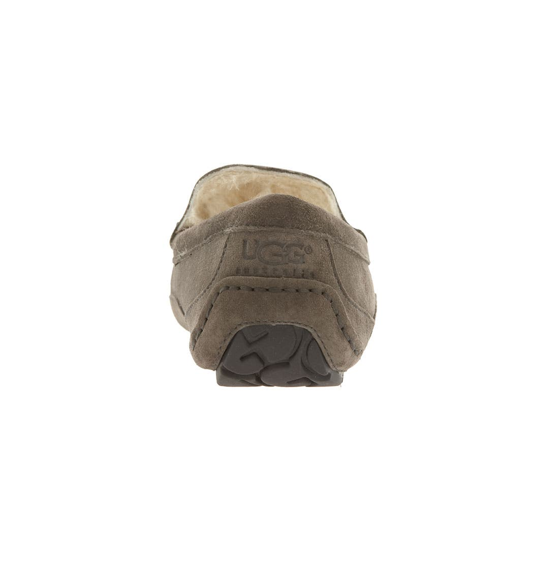 Ascot Suede Slipper,                             Alternate thumbnail 9, color,                             CHARCOAL