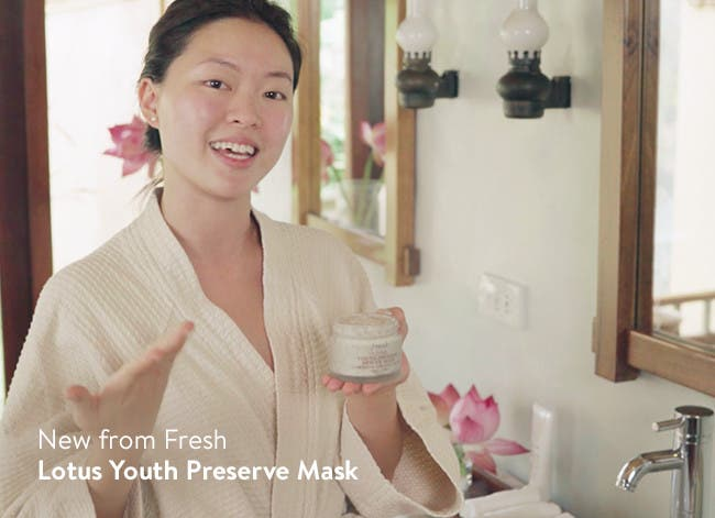 New Lotus Youth Preserve Mask from Fresh.