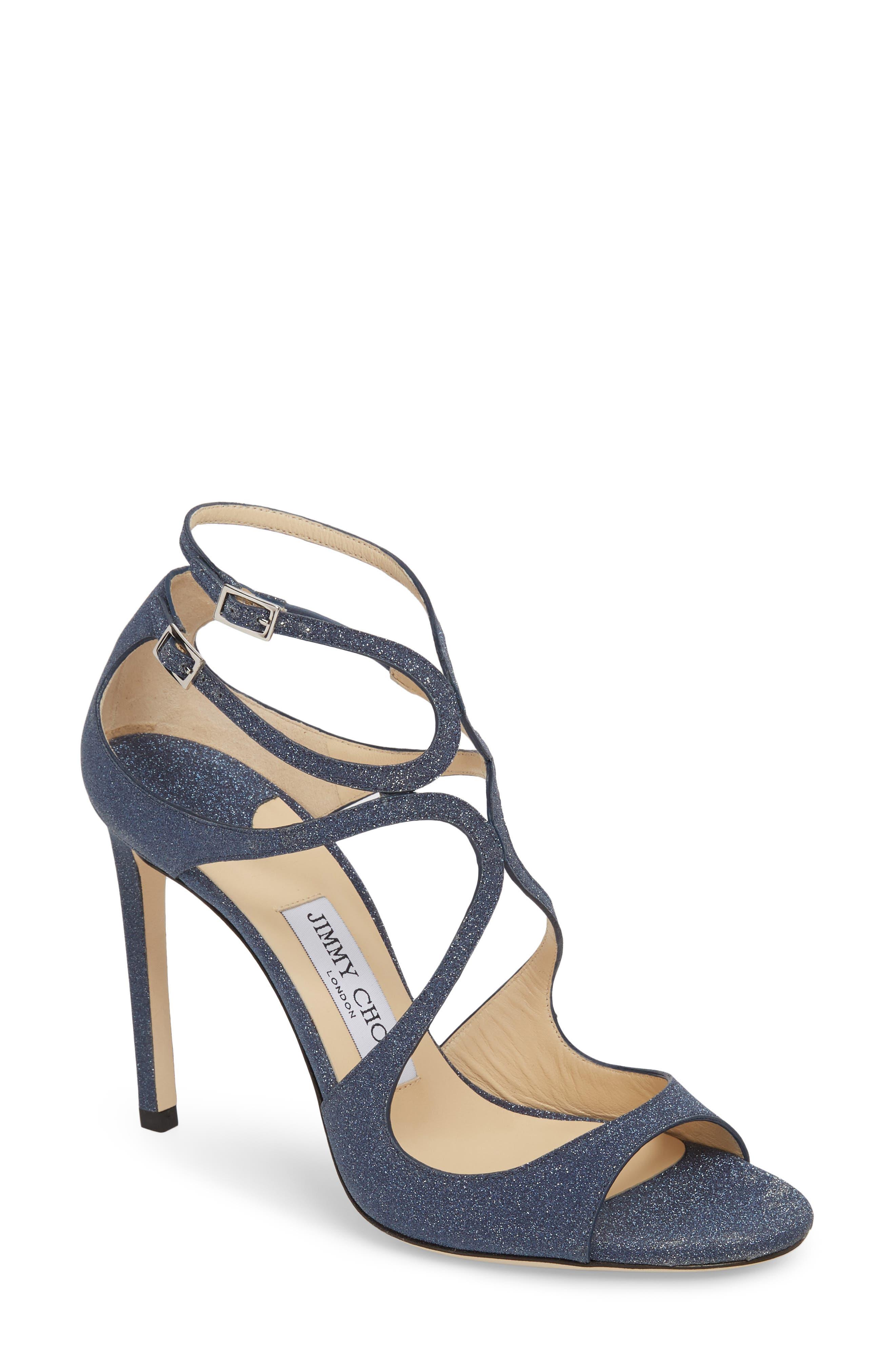 Lang Sandal,                         Main,                         color, NAVY GLITTER
