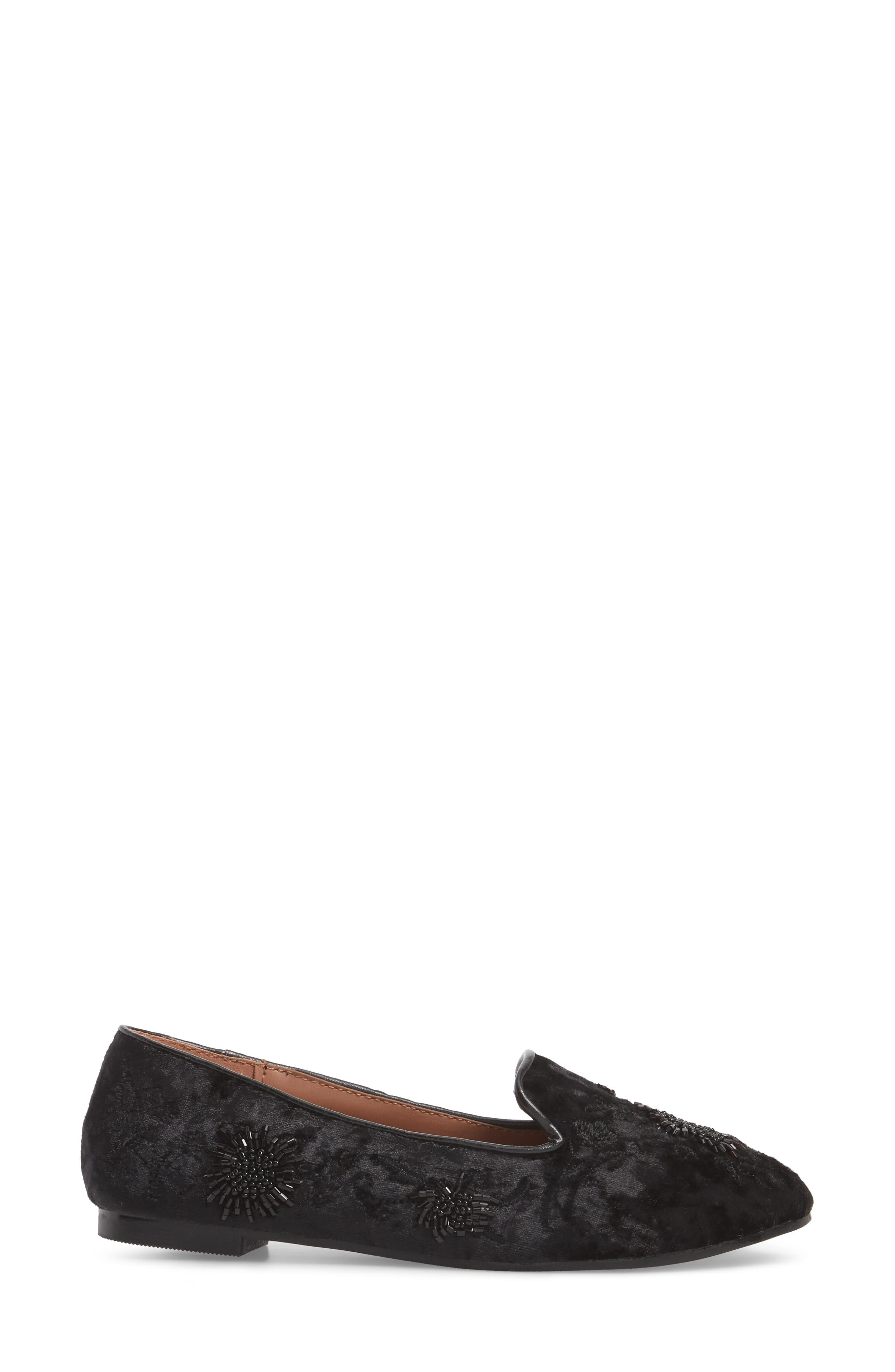 Syrup Embellished Loafer,                             Alternate thumbnail 3, color,                             BLACK