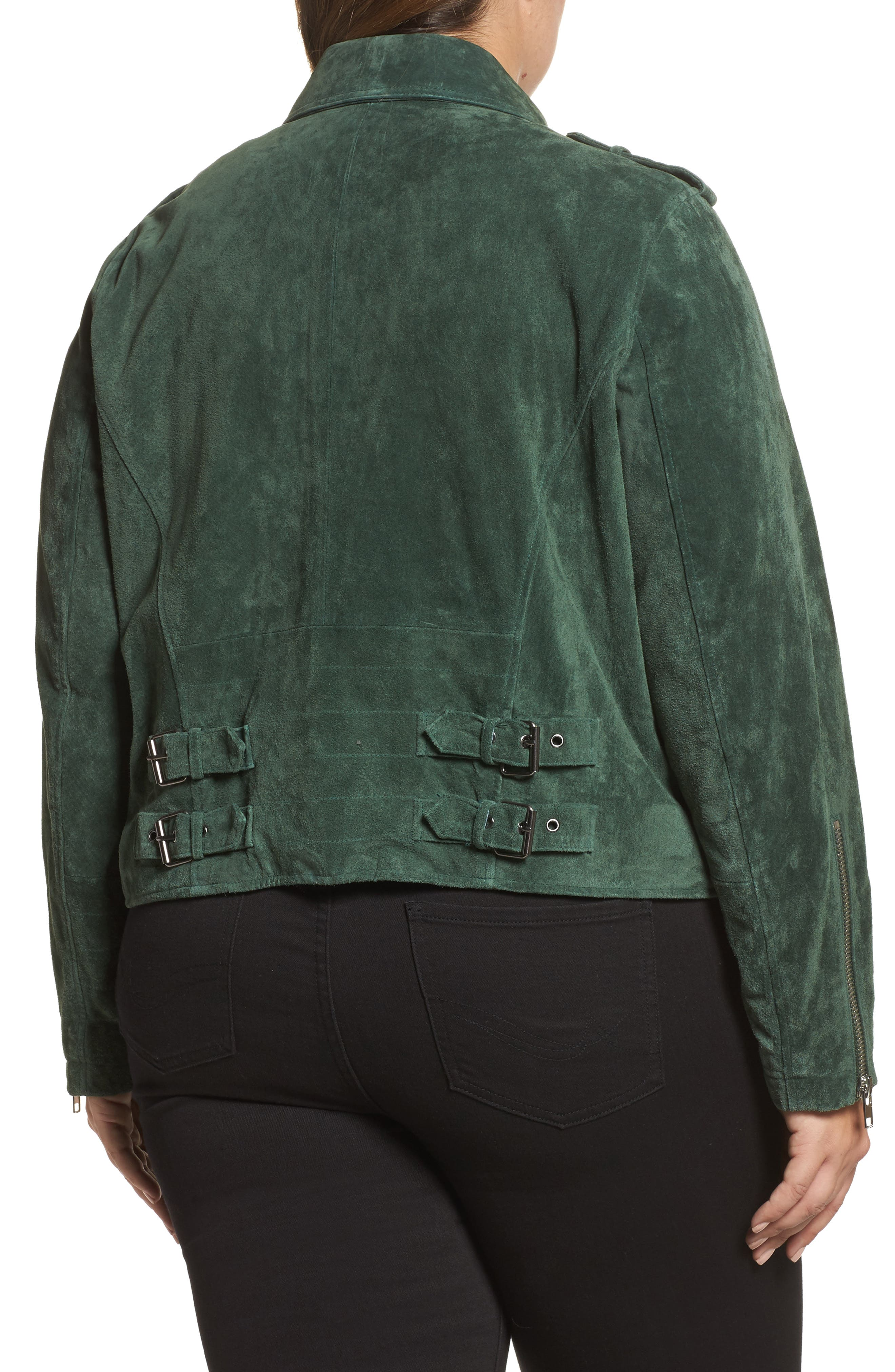 Suede Moto Jacket,                             Alternate thumbnail 5, color,