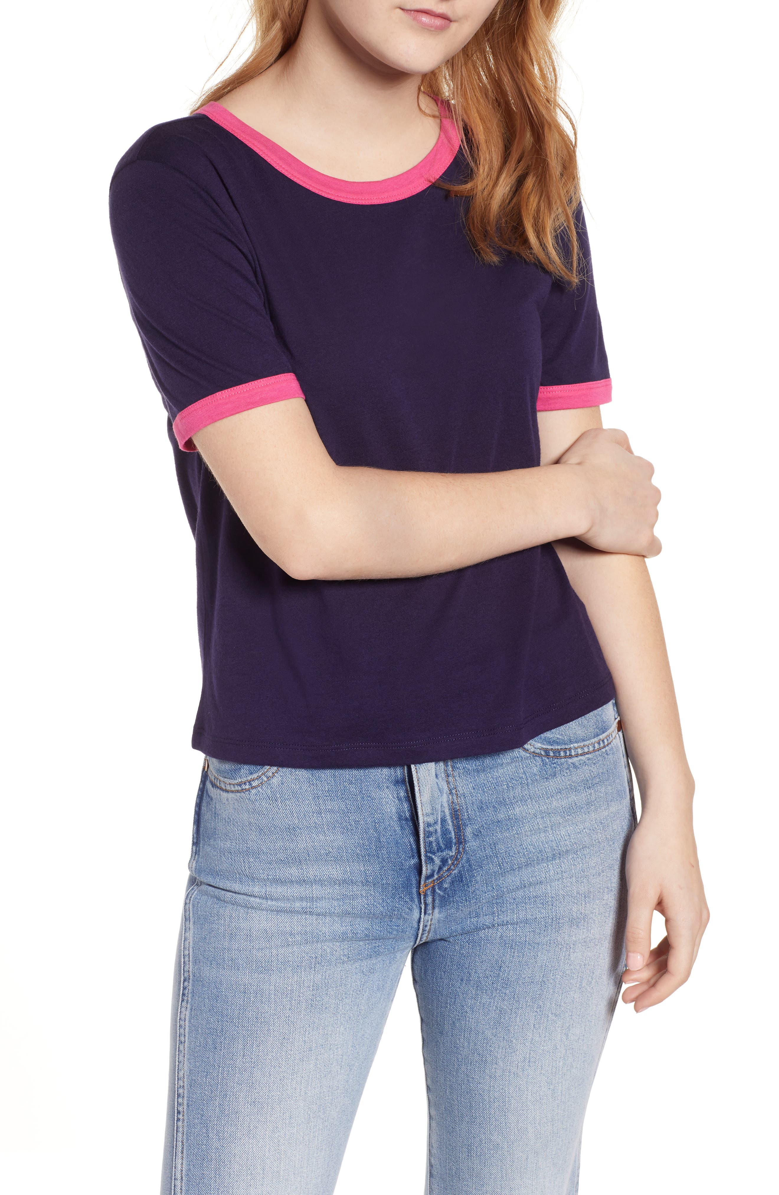 Ringer Tee, Main, color, NAVY EVENING