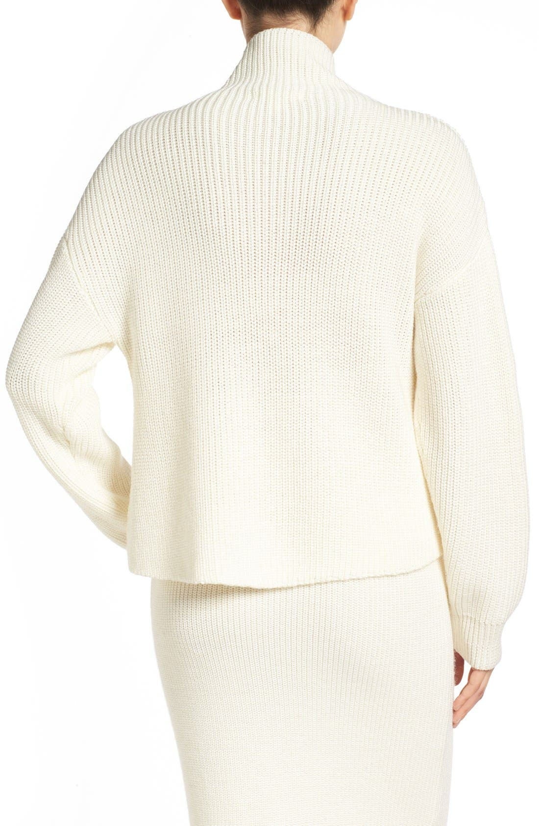 by Lauren Conrad 'Vancouver' Funnel Neck Sweater,                             Alternate thumbnail 4, color,                             100