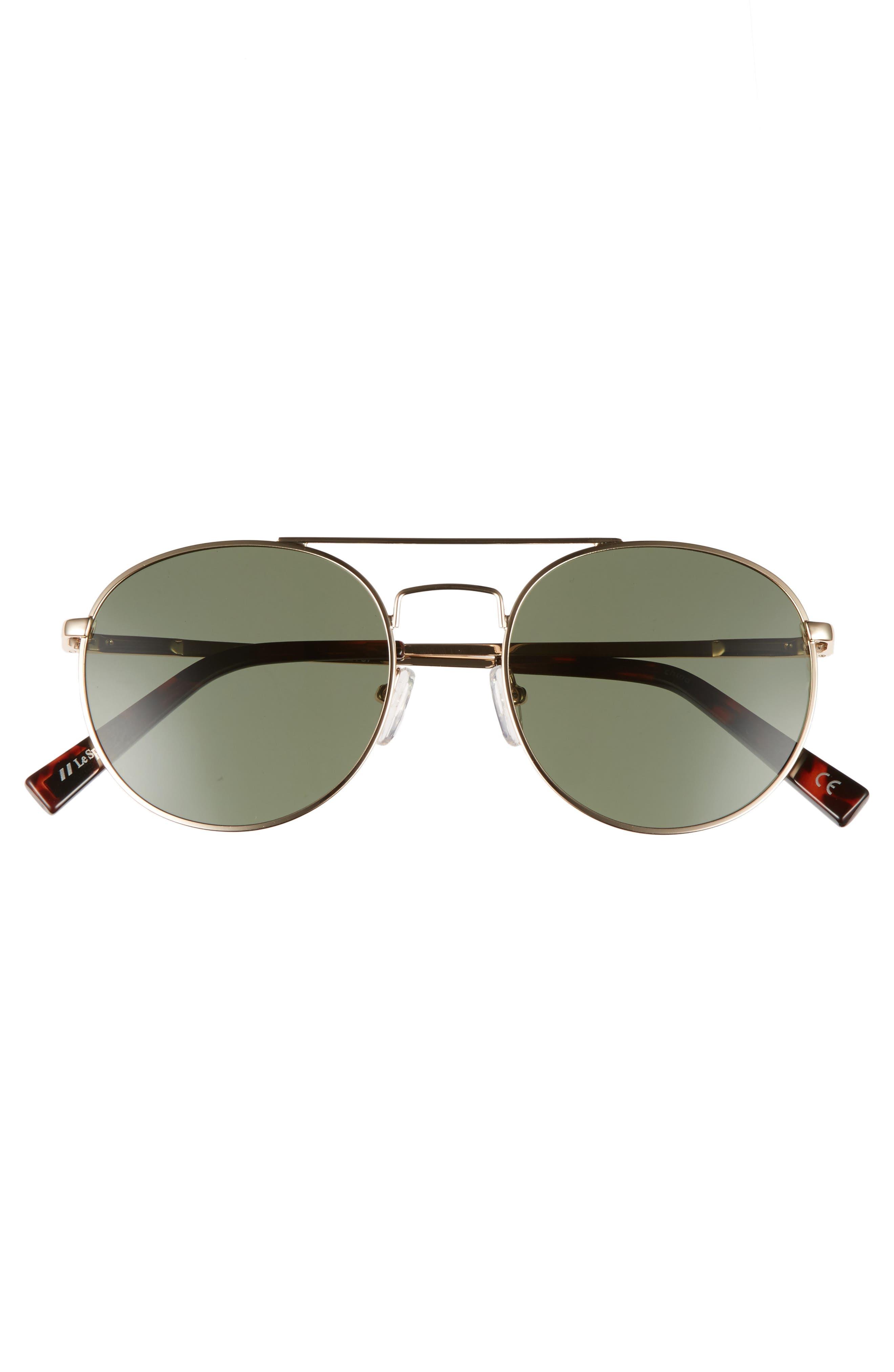Revolution 53mm Aviator Sunglasses,                             Alternate thumbnail 3, color,                             GOLD