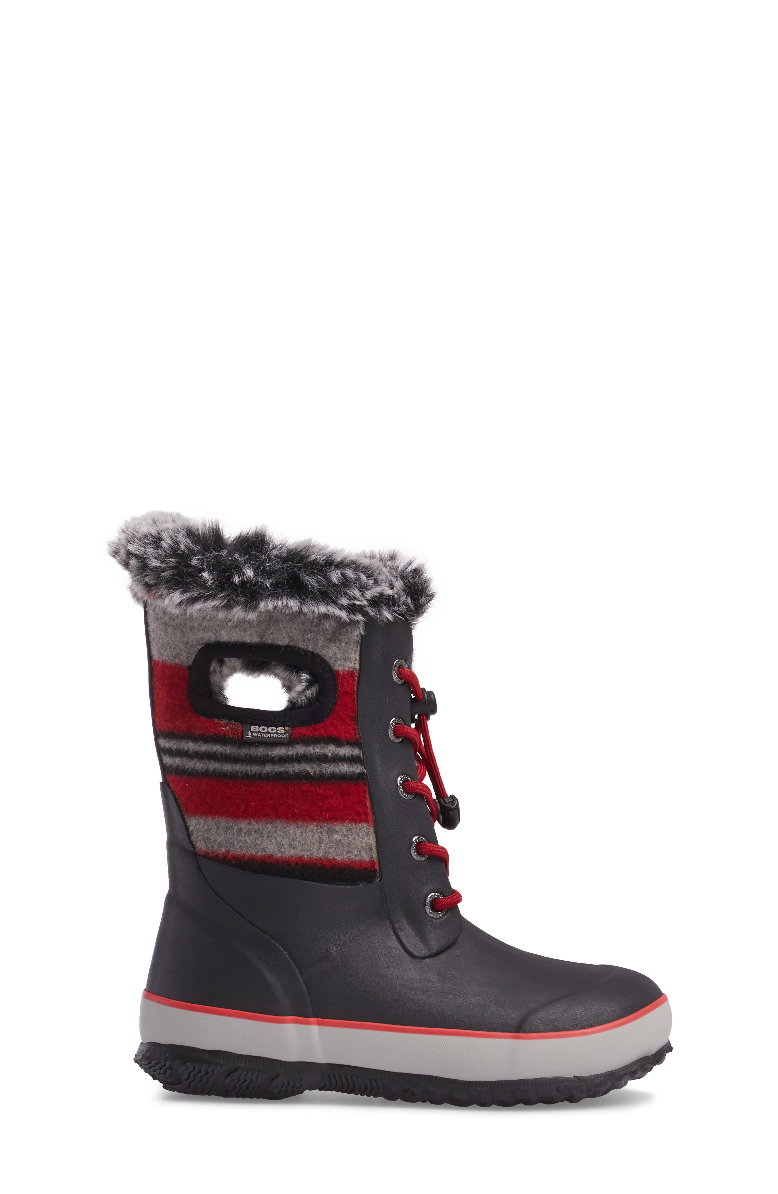 Arcata Stripe Waterproof Insulated Faux Fur Boot,                             Alternate thumbnail 9, color,