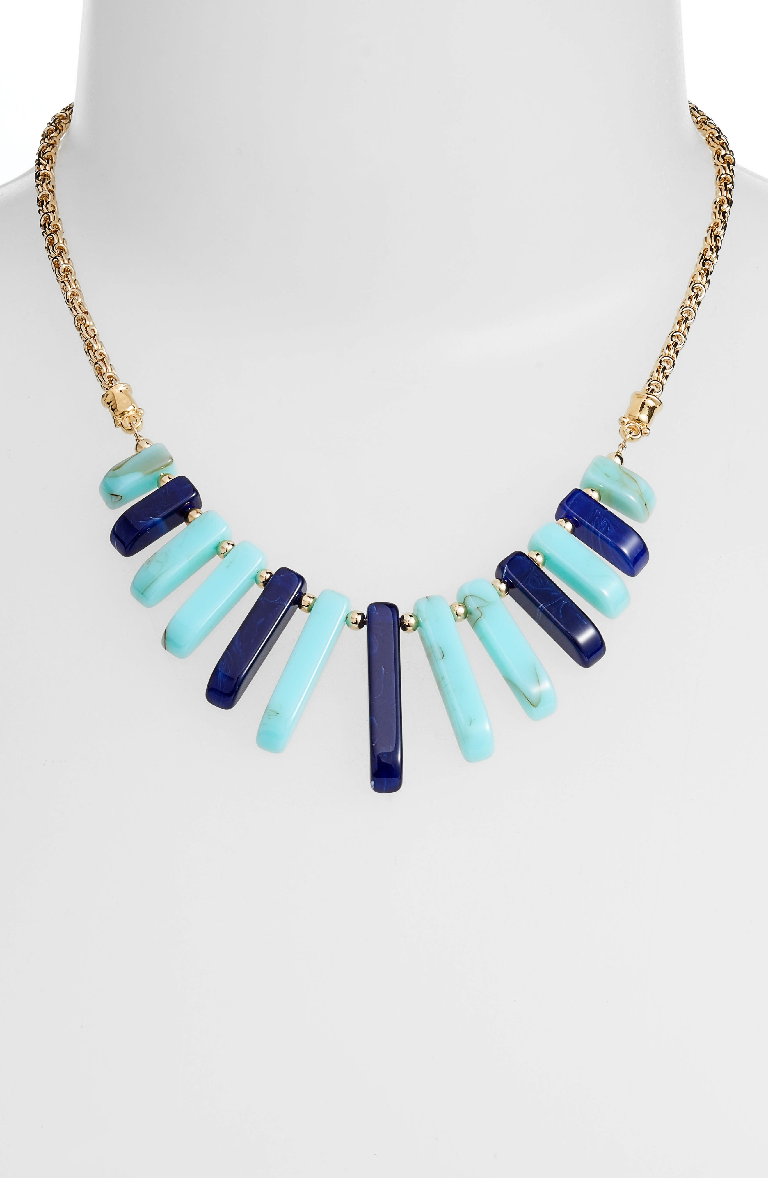 Cascade Bib Necklace,                             Alternate thumbnail 2, color,                             BLUE