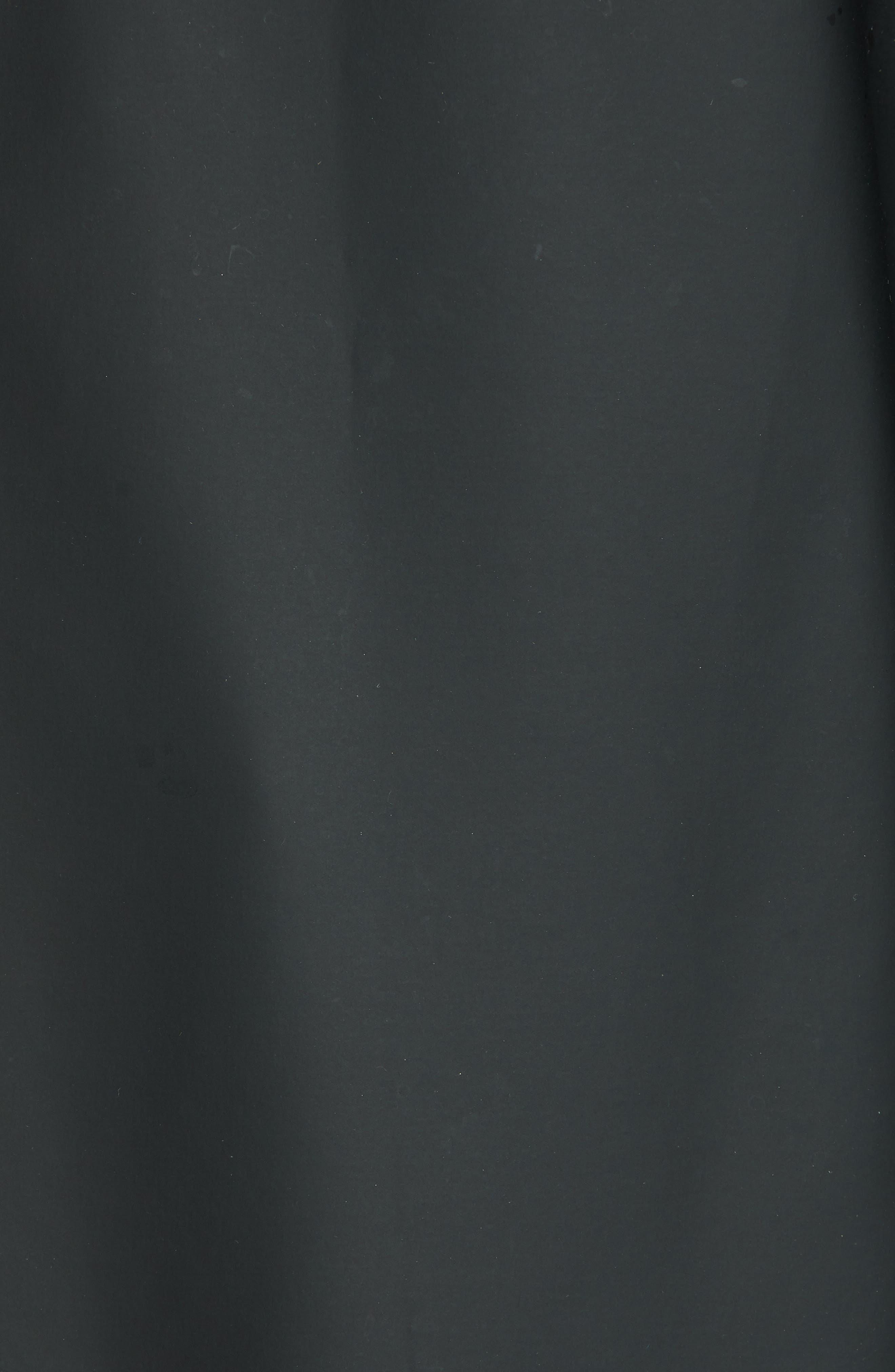 Long Logo Print Waterproof Raincoat,                             Alternate thumbnail 7, color,                             BLACK