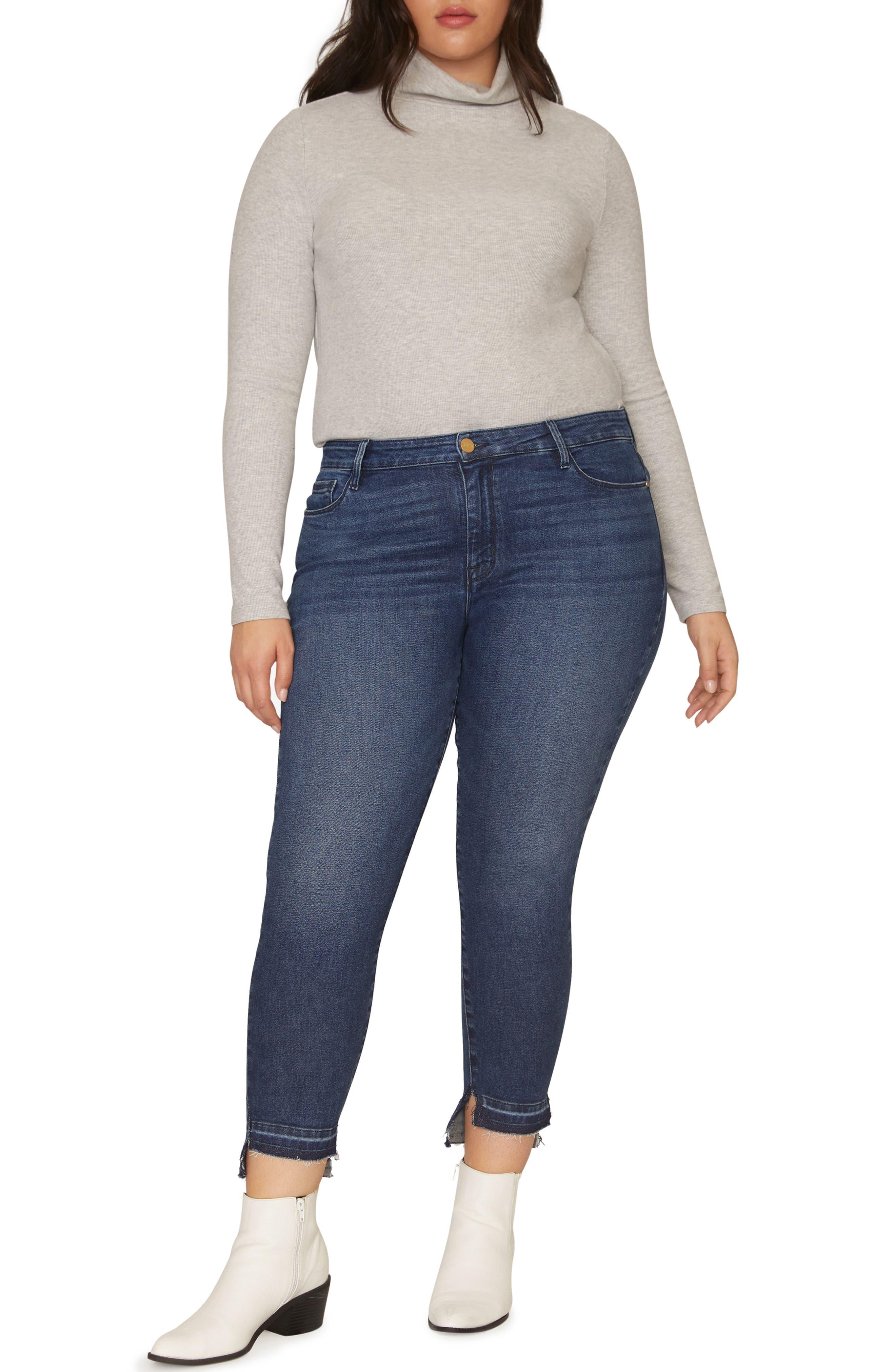 Social Standard Release Hem Ankle Skinny Jeans,                             Main thumbnail 1, color,                             ELYSIAN BLUE