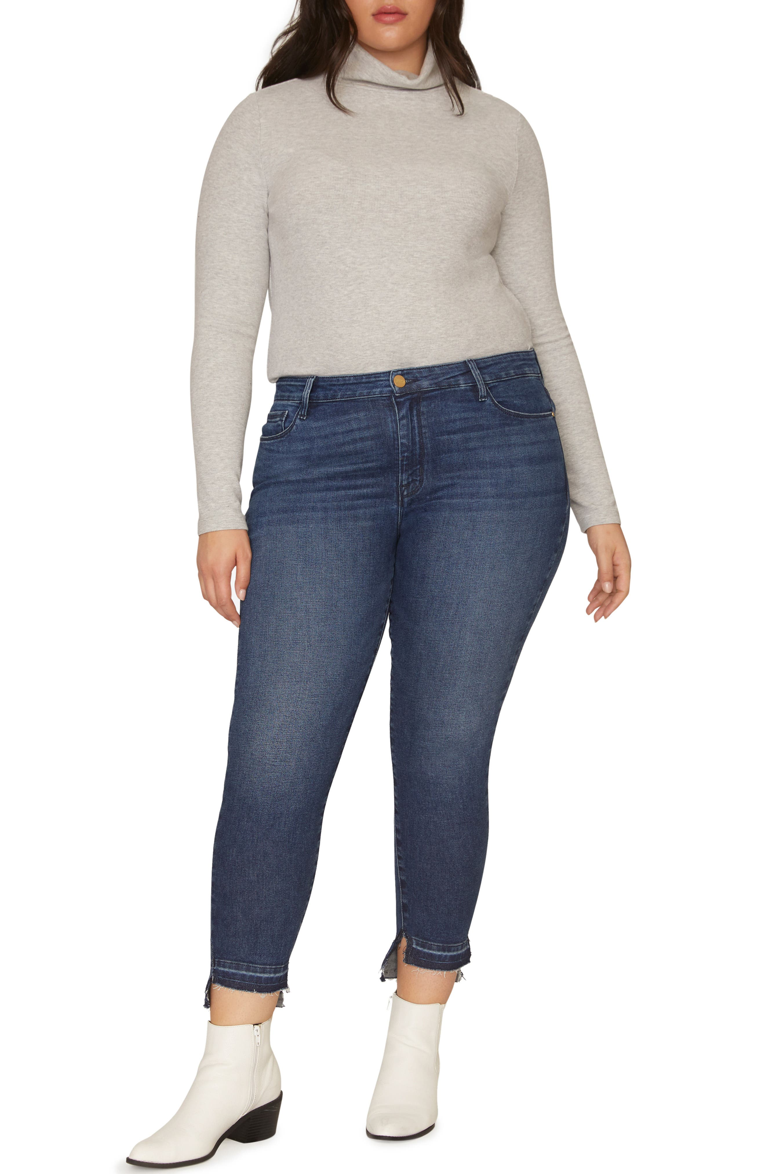 Social Standard Release Hem Ankle Skinny Jeans, Main, color, ELYSIAN BLUE
