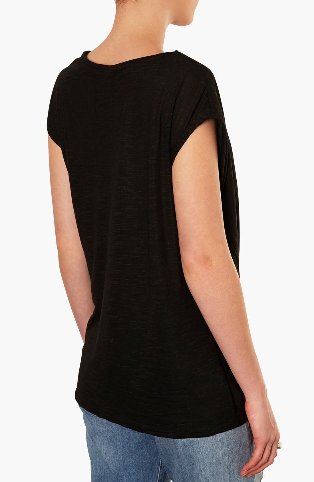 Draped Shoulder Jersey Top,                             Alternate thumbnail 3, color,                             001