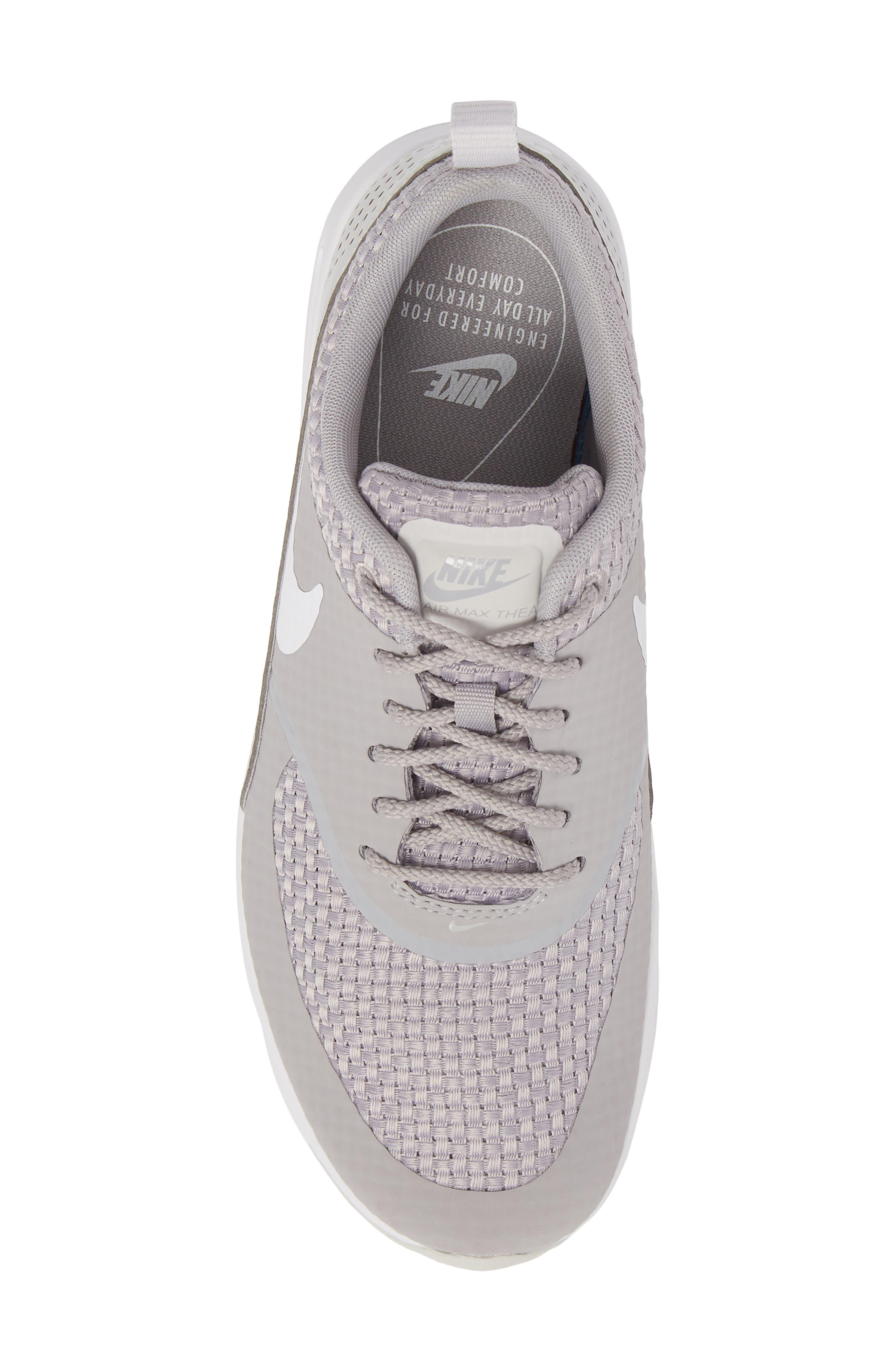 Air Max Thea Sneaker,                             Alternate thumbnail 5, color,                             ATMOSPHERE GREY/ WHITE