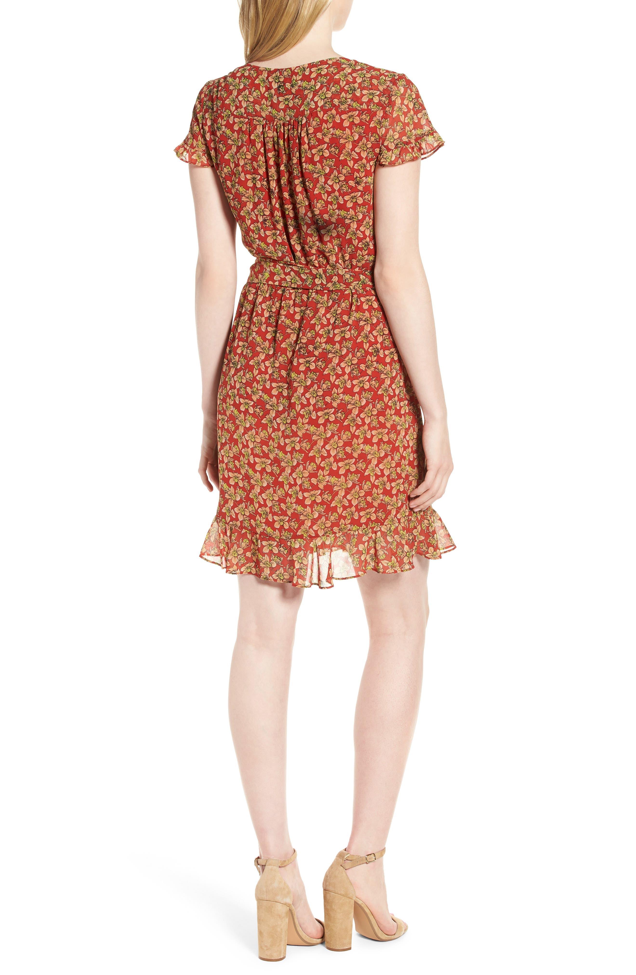 Ana Floral Wrap Dress,                             Alternate thumbnail 2, color,                             603