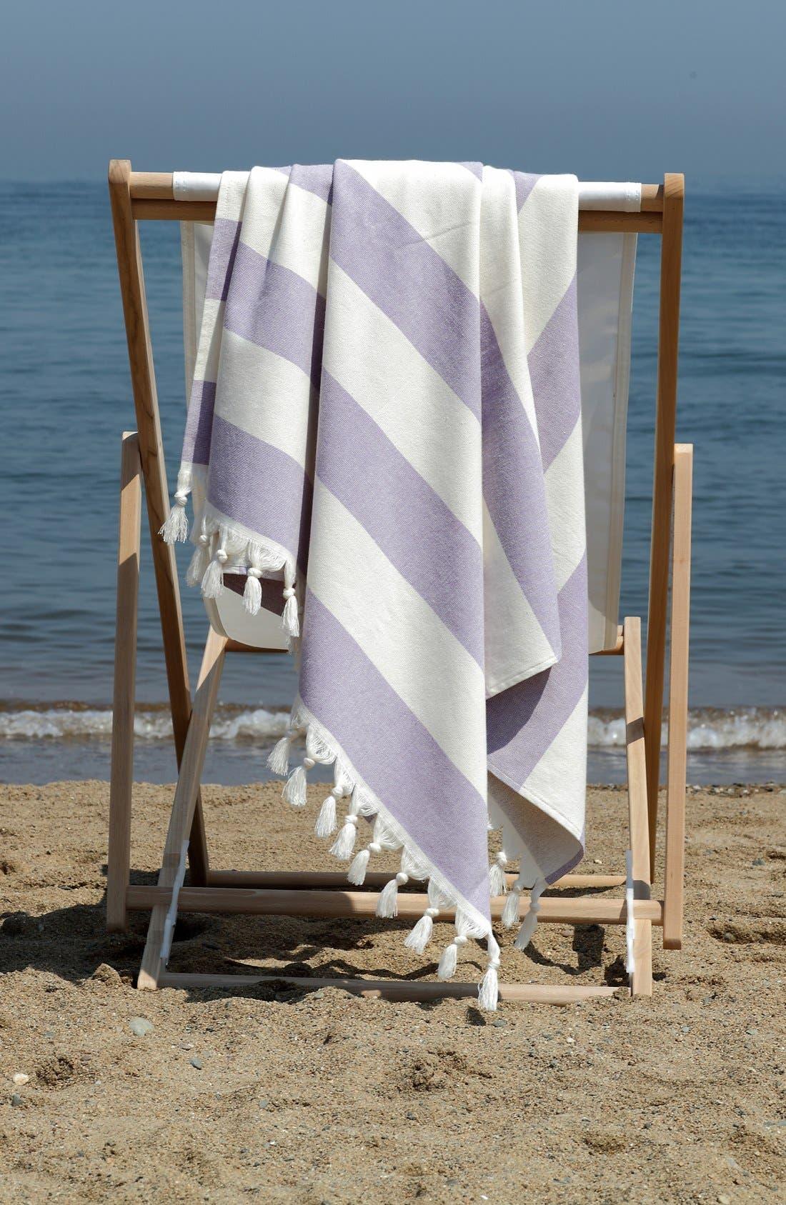 'Patara' Turkish Pestemal Towel,                             Alternate thumbnail 4, color,                             TURQUIOSE
