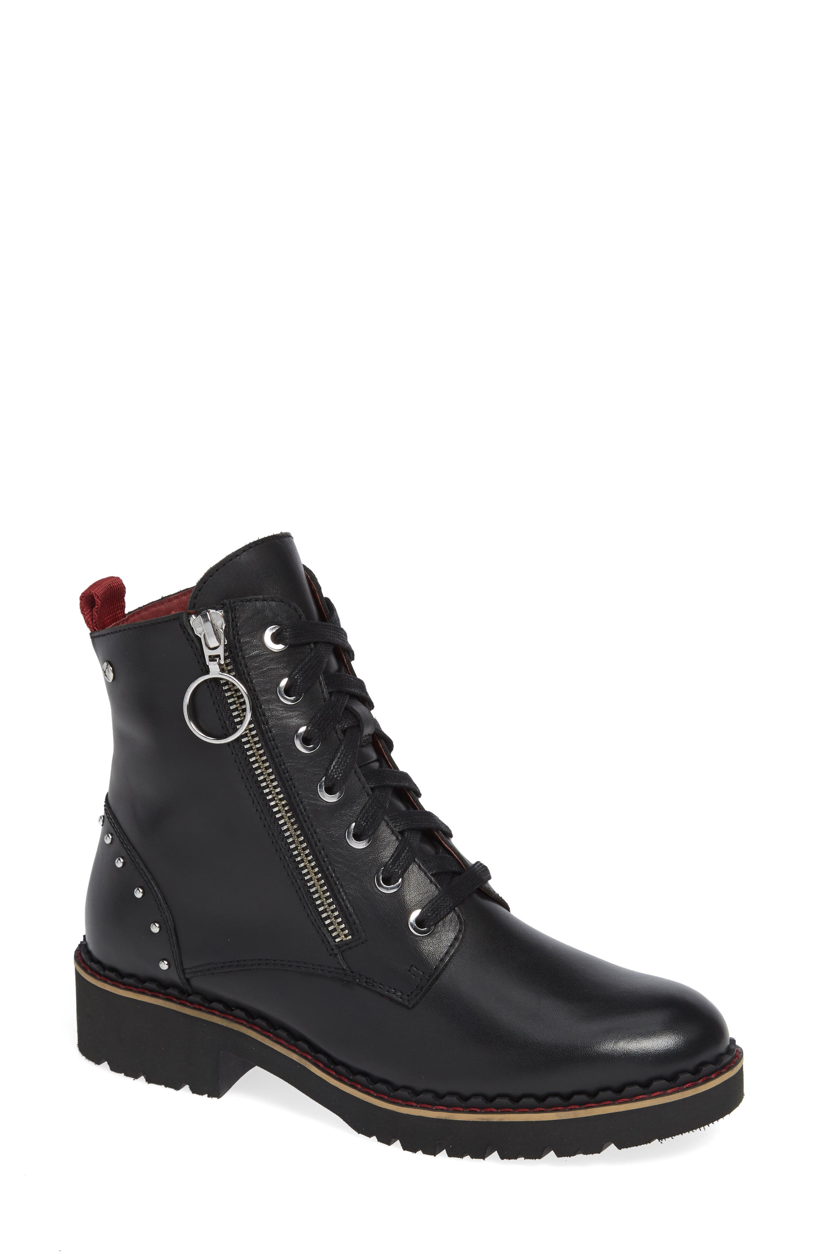 Vicar Boot,                             Main thumbnail 1, color,                             BLACK LEATHER