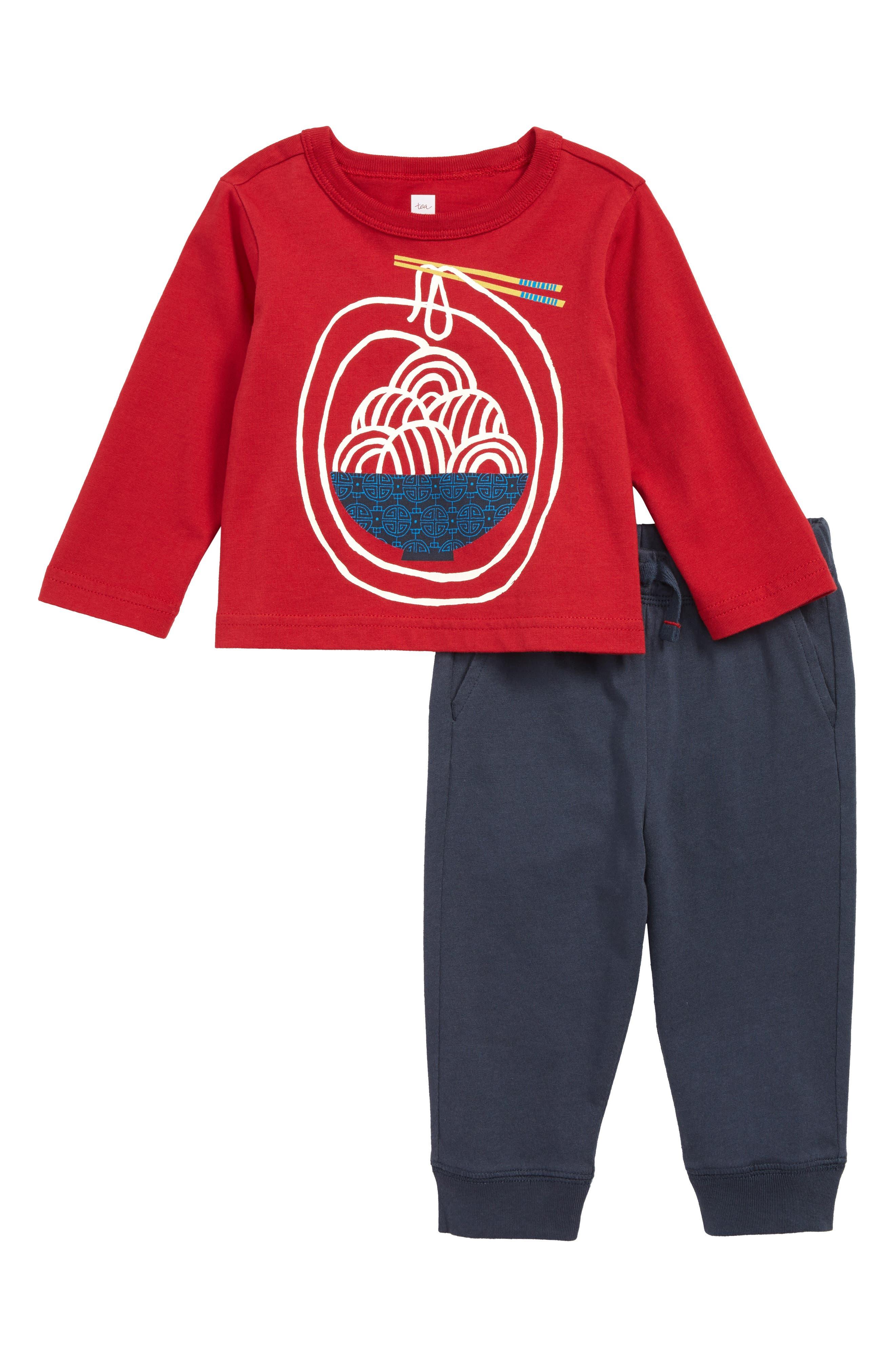 Infant Boys Tea Collection Noodling Around TShirt  Sweatpants Set