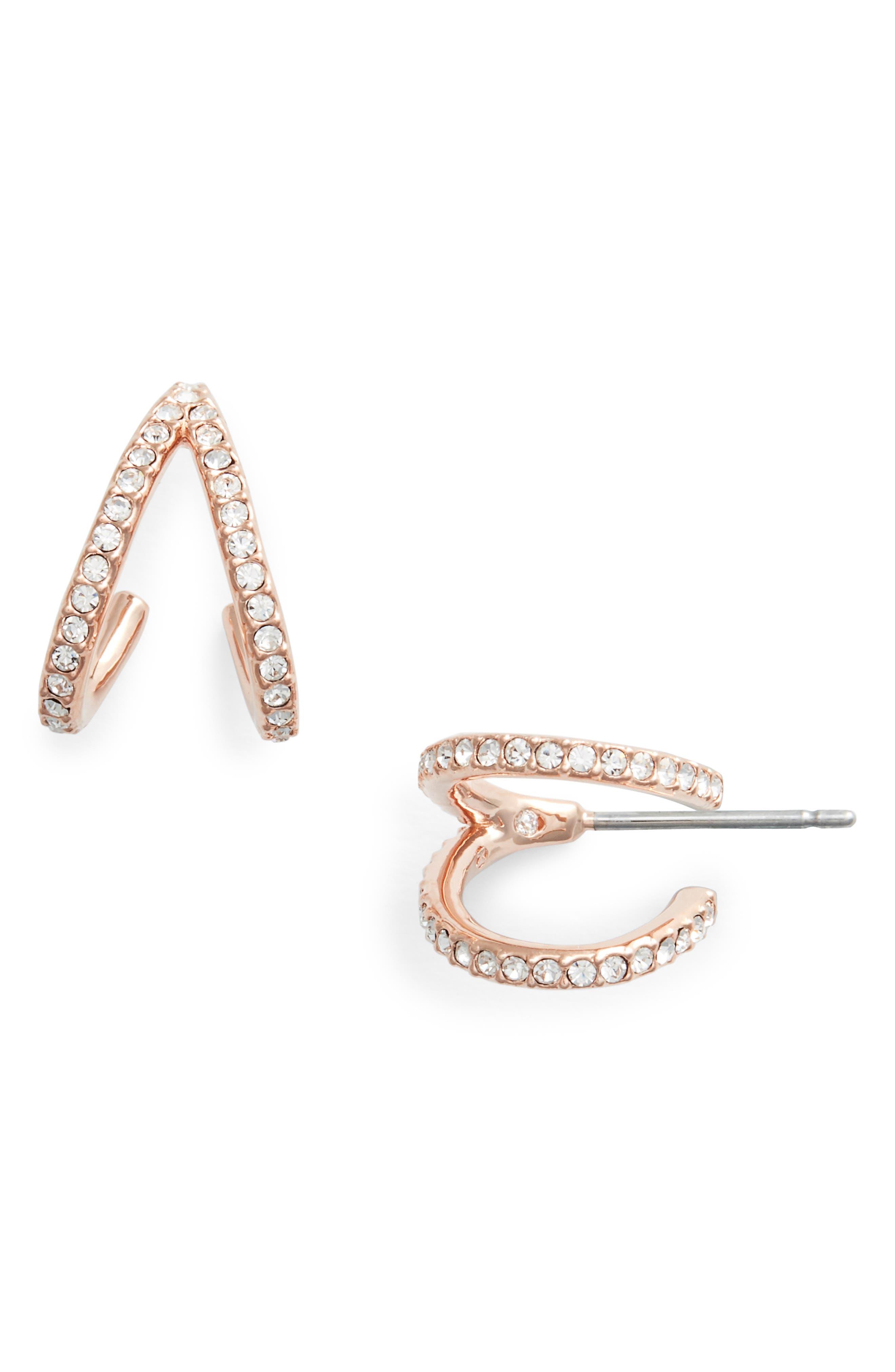 Reverse-V Hoop Earrings,                             Main thumbnail 2, color,