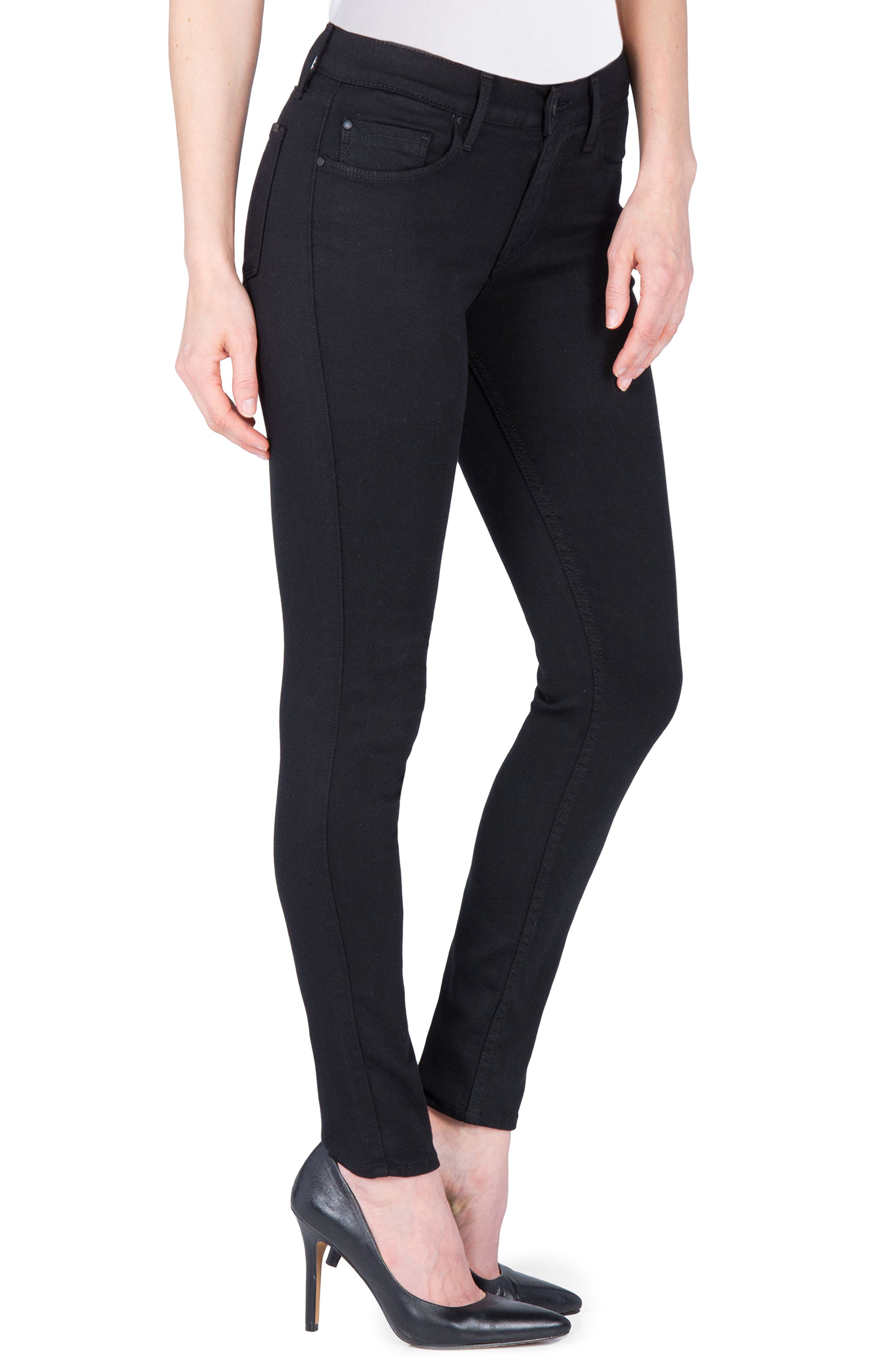 Gwen High Rise Skinny Jeans,                             Alternate thumbnail 3, color,                             001