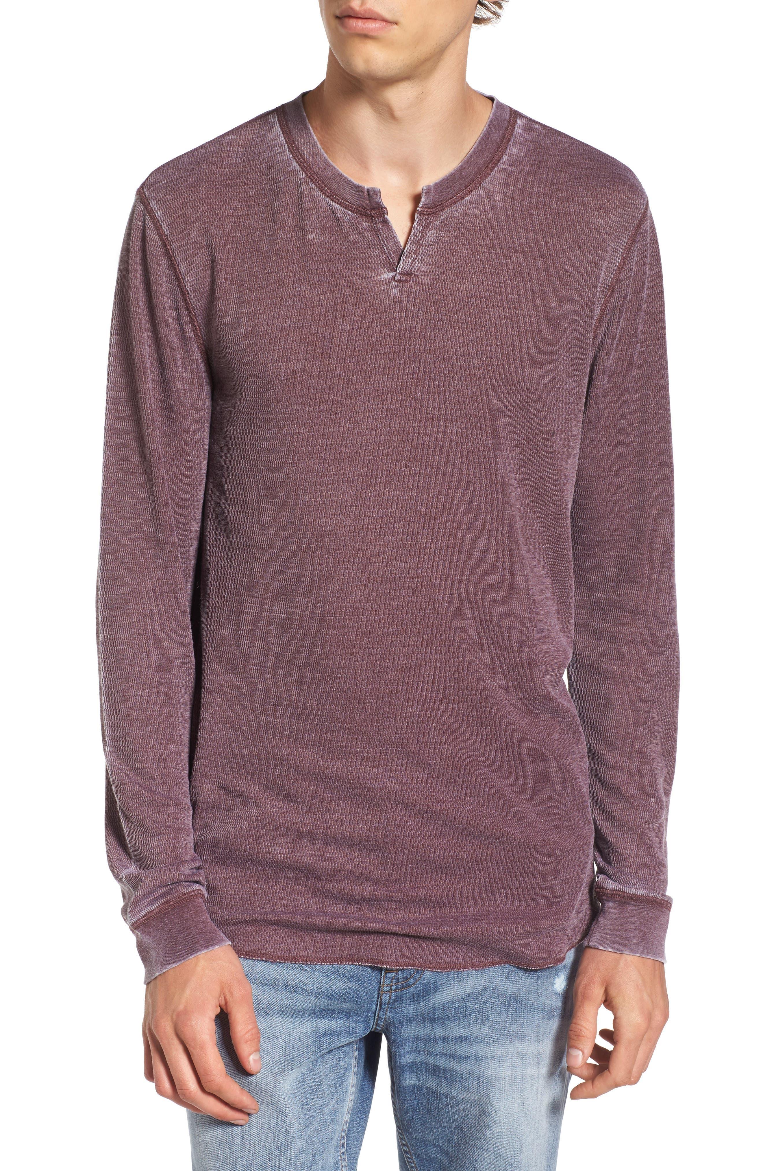 Notch Neck Thermal T-Shirt,                             Main thumbnail 7, color,