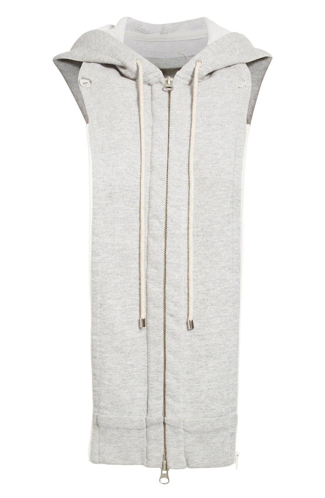 Hoodie Dickey,                             Main thumbnail 1, color,                             HEATHER GREY