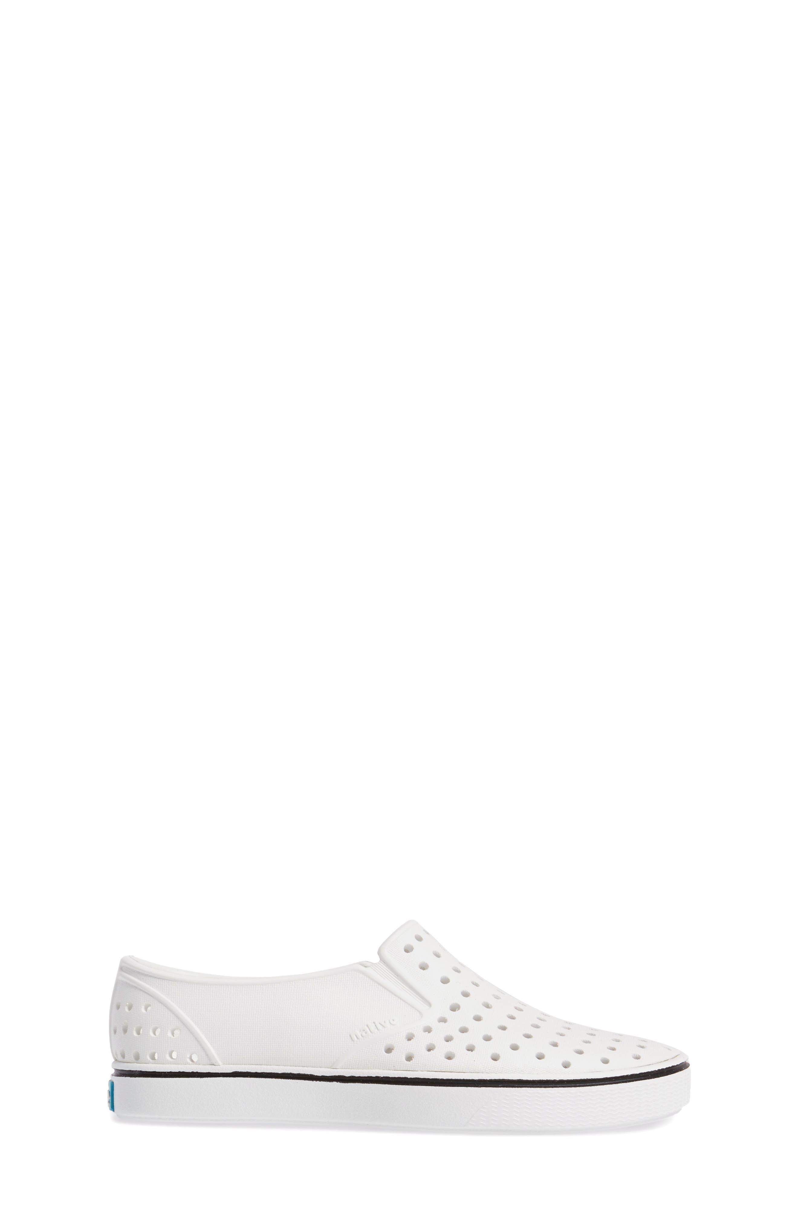 Miles Water Friendly Slip-On Sneaker,                             Alternate thumbnail 3, color,                             SHELL WHITE