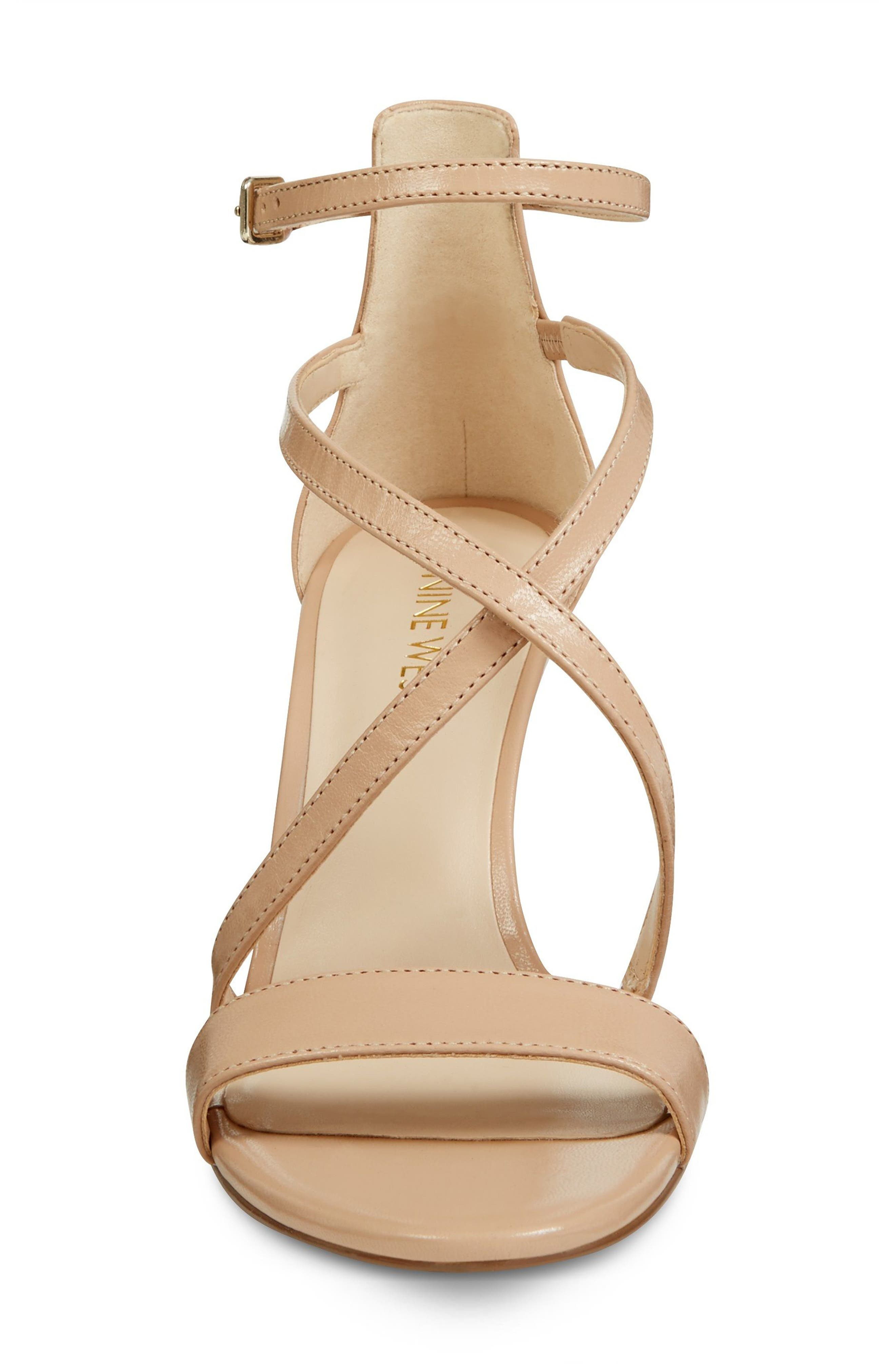 Retail Therapy Strappy Sandal,                             Alternate thumbnail 4, color,                             NATURAL LEATHER