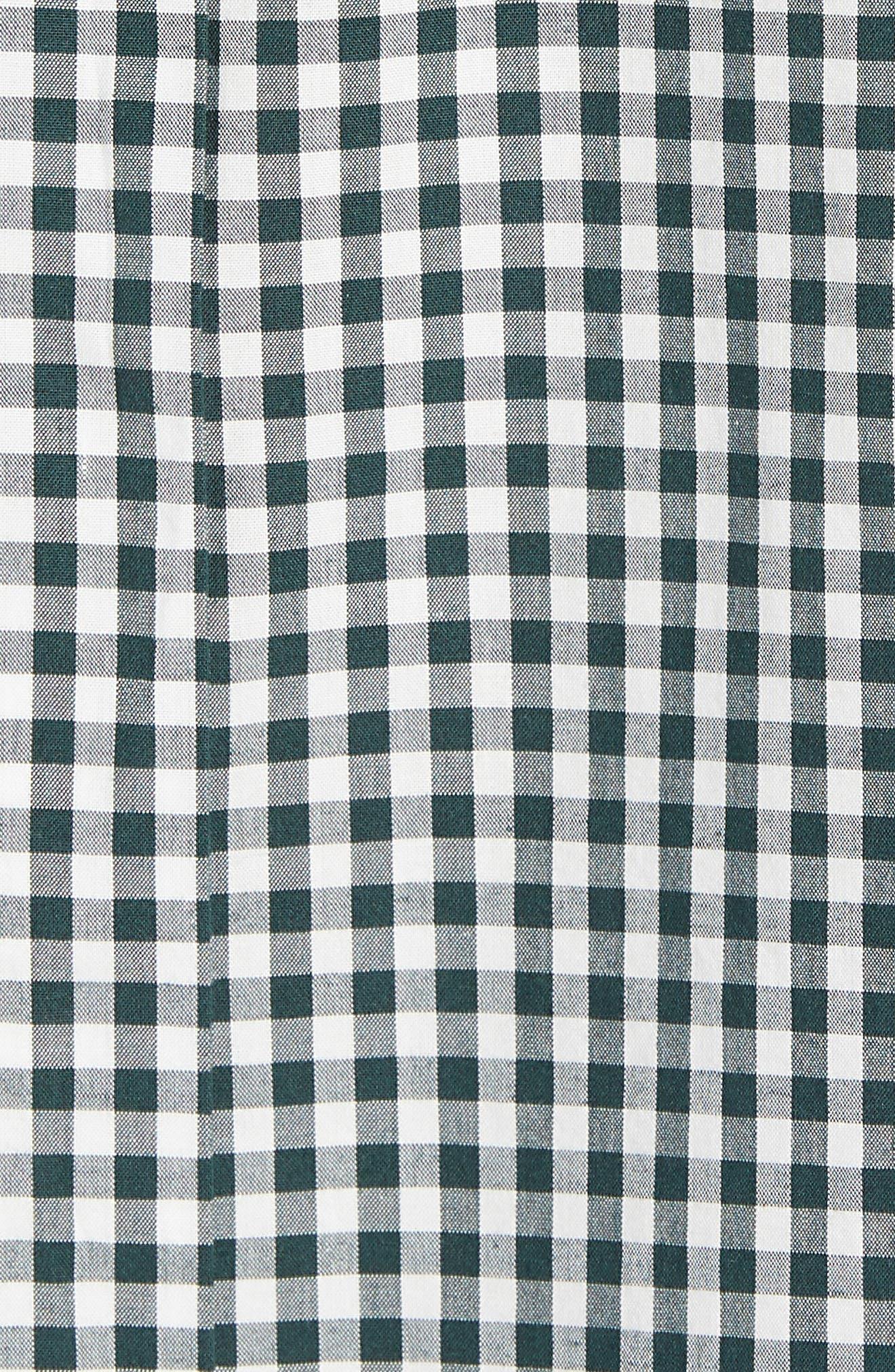 Mod Fit Gingham Sport Shirt,                             Alternate thumbnail 5, color,                             301