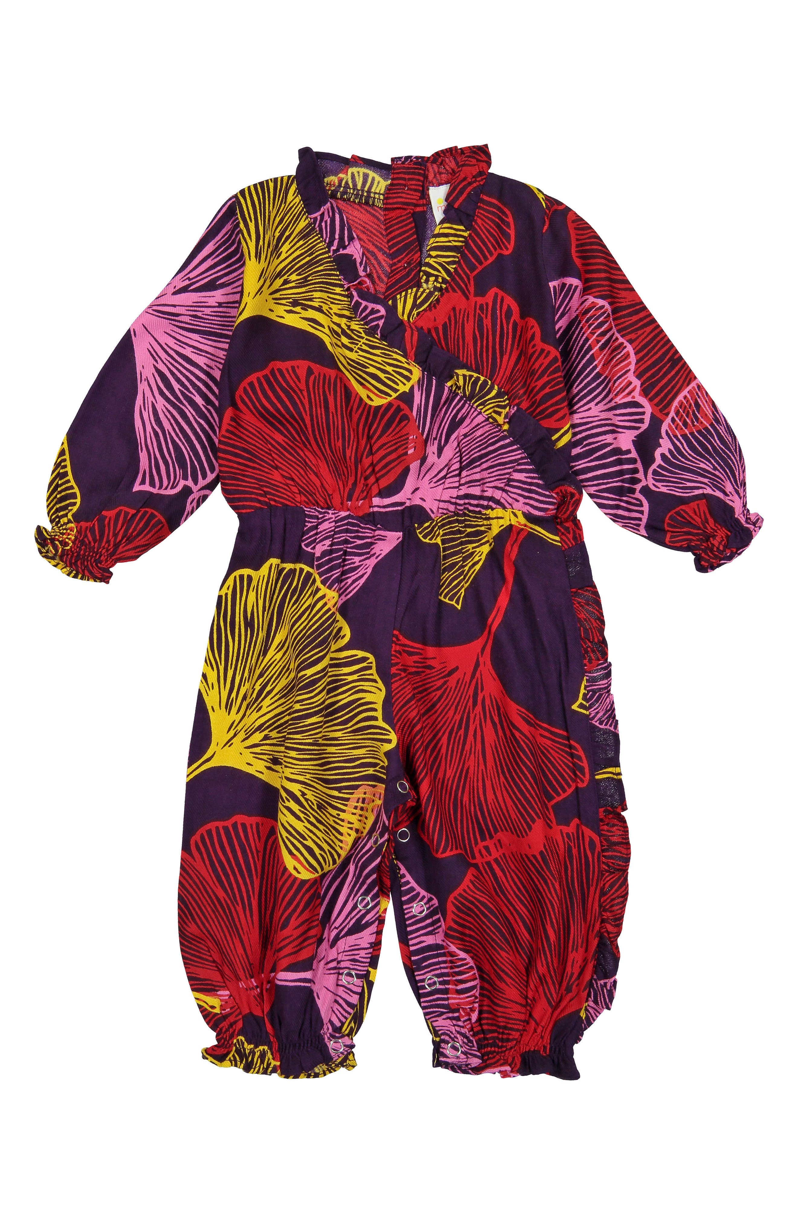 Ellie Ginkgo Leaves One-Piece,                             Main thumbnail 1, color,                             PURPLE