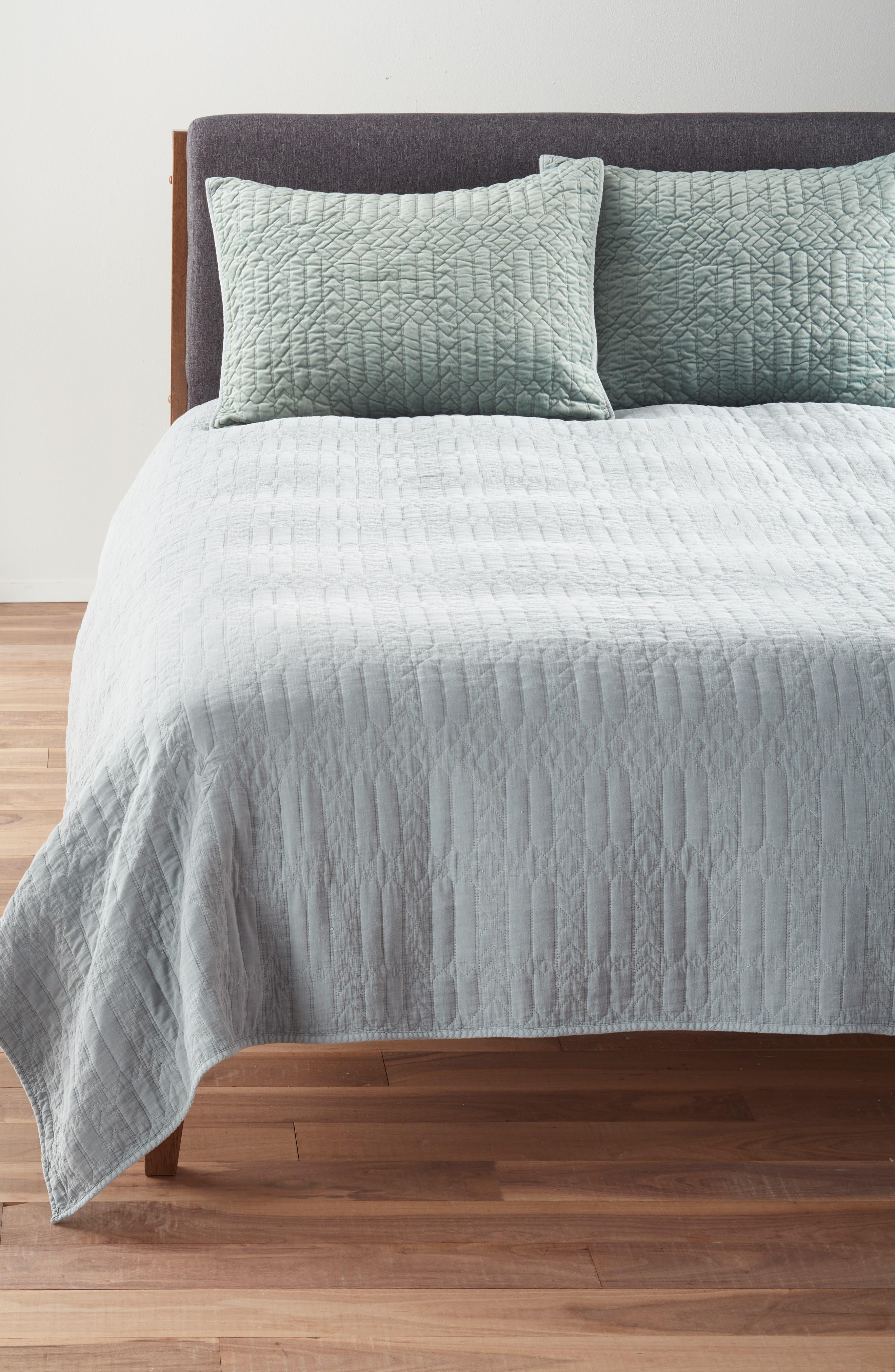 NORDSTROM AT HOME,                             Washed Velvet Quilt,                             Alternate thumbnail 2, color,                             300