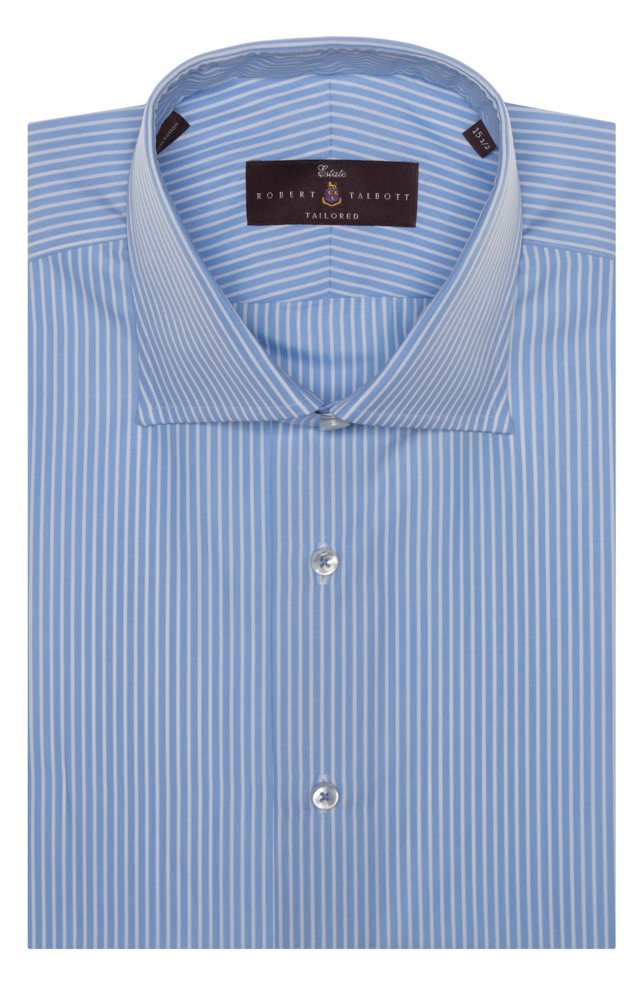Tailored Fit Stripe Dress Shirt,                             Alternate thumbnail 2, color,                             481