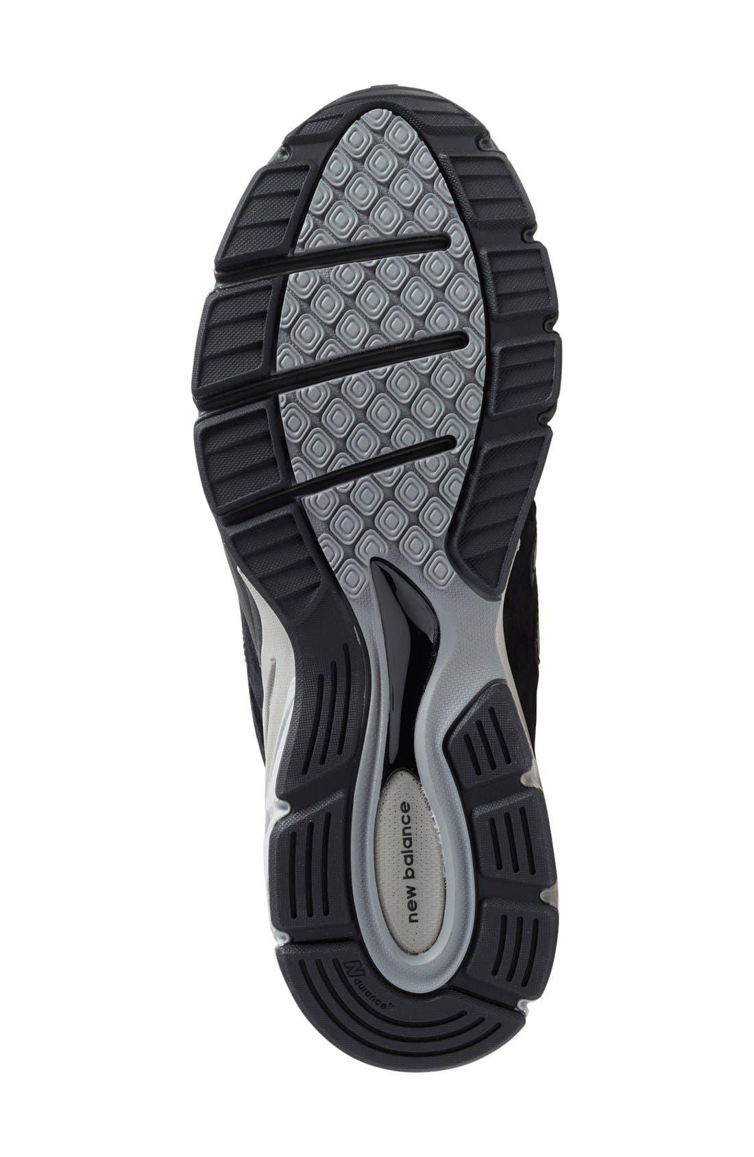 '990' Running Shoe,                             Alternate thumbnail 4, color,                             BLACK