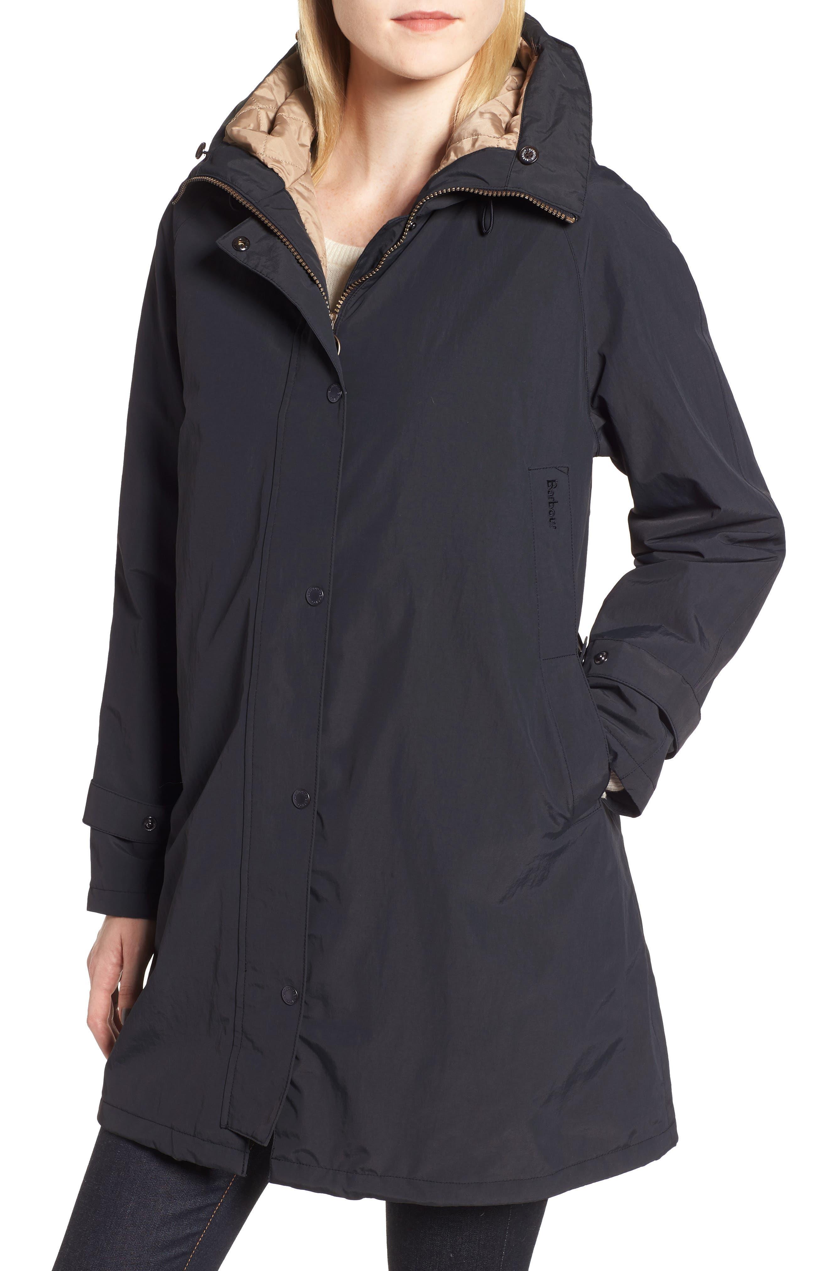 Dexy Jacket with Faux Fur Trim,                             Alternate thumbnail 4, color,                             BLACK